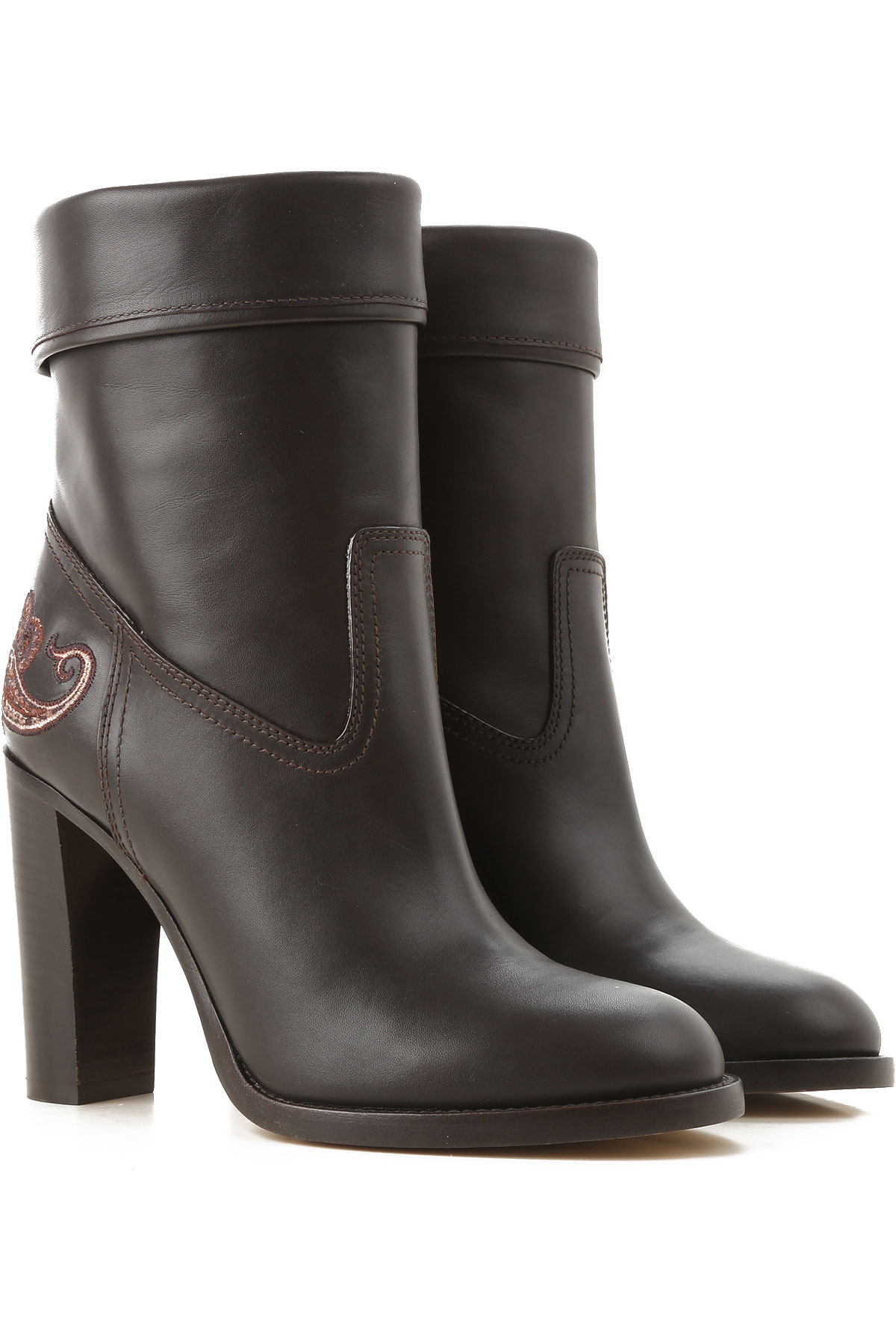 Image of Etro Boots for Women, Booties, Black, Leather, 2017, 10 6 7 8 9