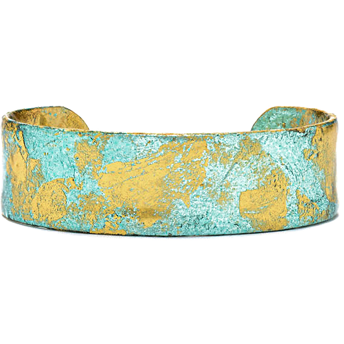 Evocateur Bracelet for Women, Turquoise, 22K Gold Leaf, 2019