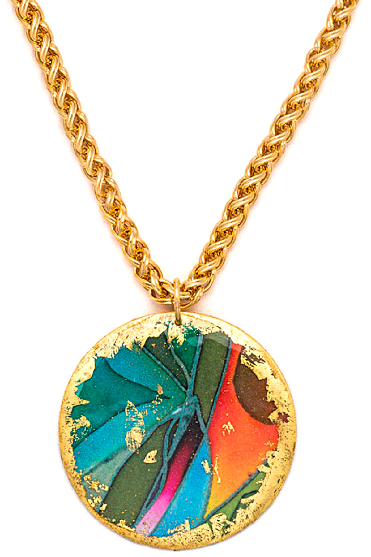 Evocateur Necklaces, Yellow Gold, 22K Gold Leaf, 2019