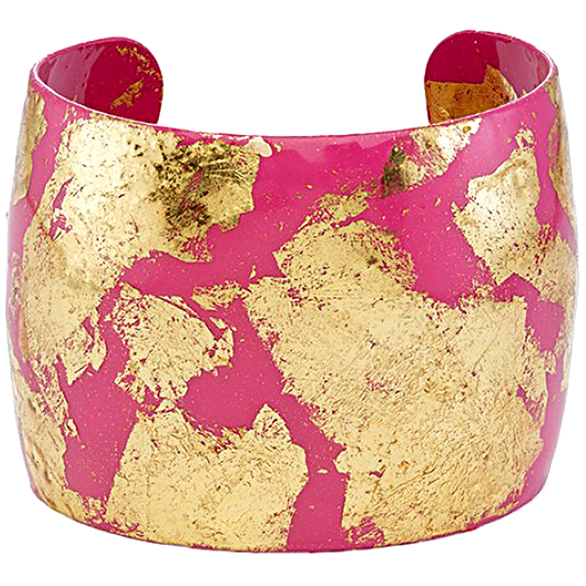 Evocateur Bracelet for Women, Pink, 22K Gold Leaf, 2019