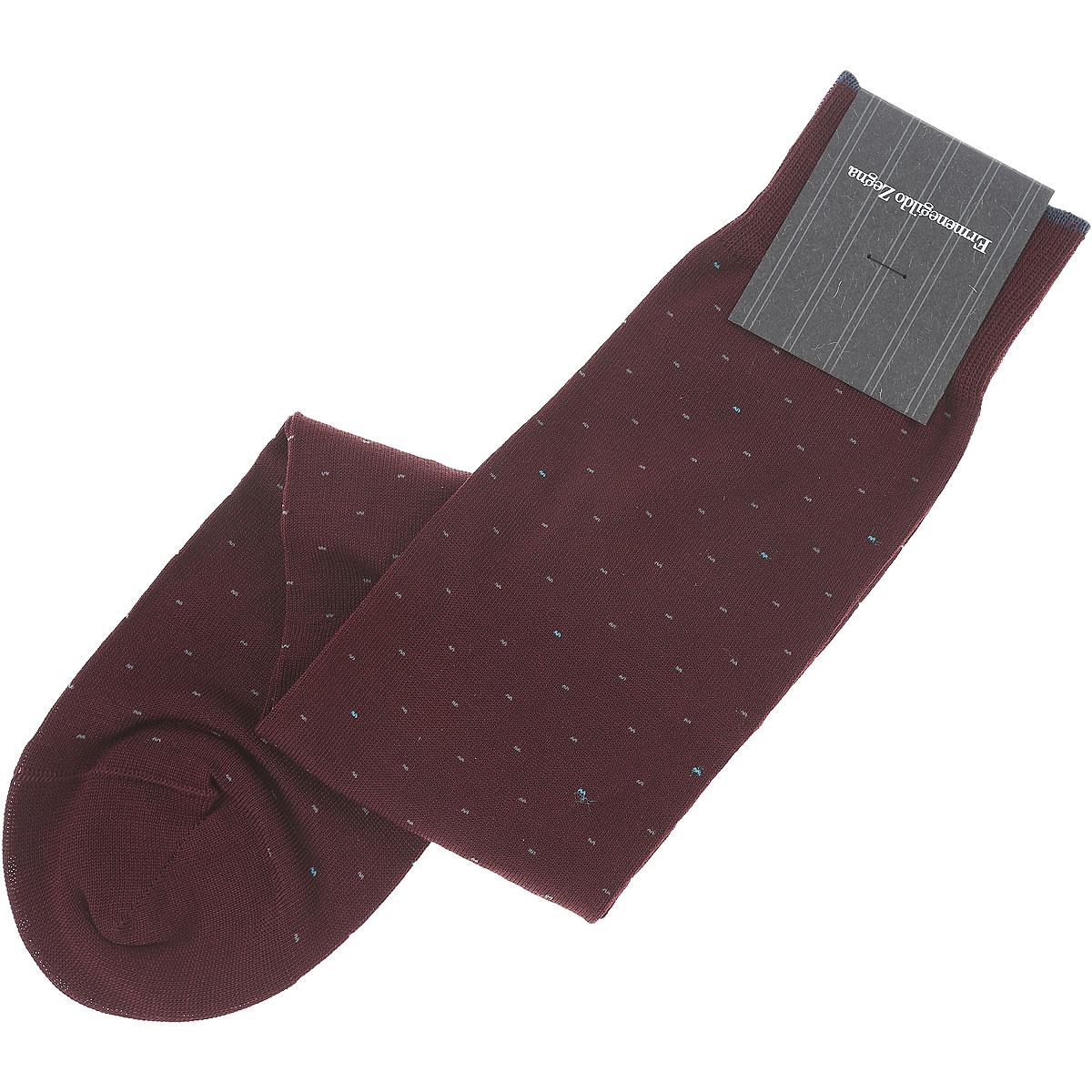 Image of Ermenegildo Zegna Sock Socks for Men On Sale, Burgundy, Cotton, 2017