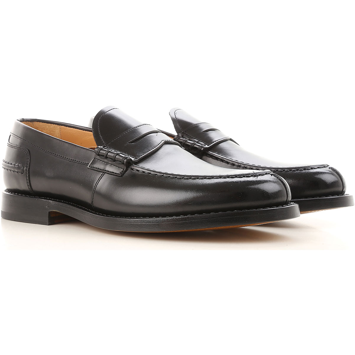 Image of Fabi Loafers for Men On Sale, Black, Leather, 2017, 11 8 9