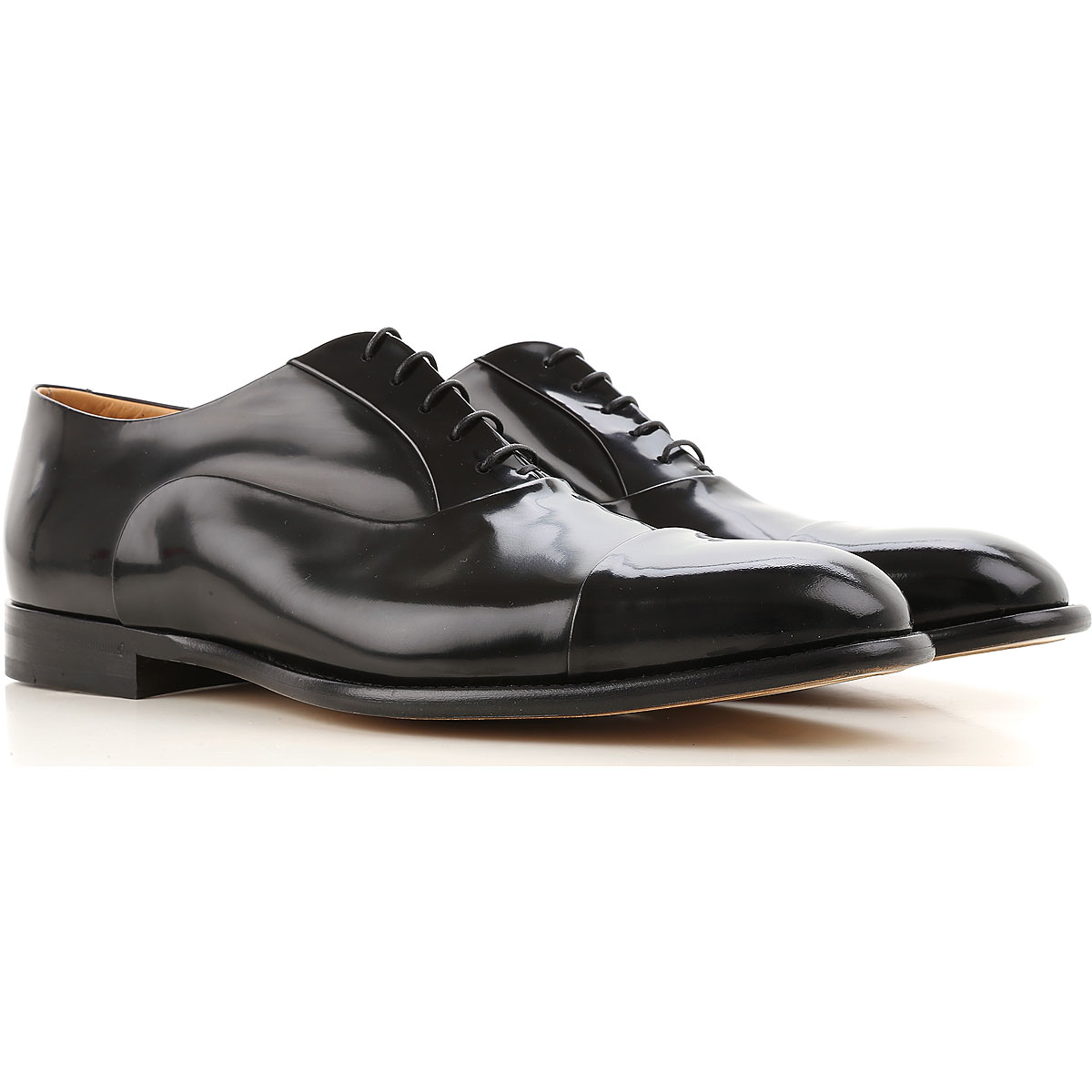 Image of Fabi Lace Up Shoes for Men Oxfords, Derbies and Brogues, Black, Leather, 2017, 10 7 7.5 8 8.5 9 9.5
