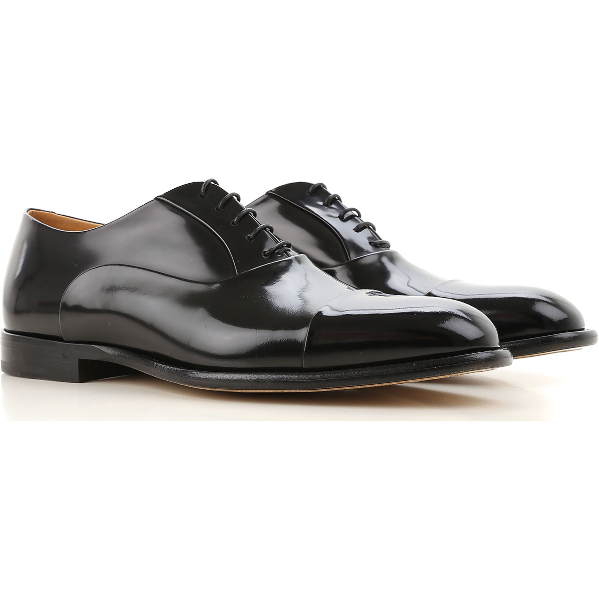 Image of Fabi Lace Up Shoes for Men Oxfords, Derbies and Brogues On Sale, Black, Leather, 2017, 10 10.5 11 12 7 7.5 8 8.5 9 9.5