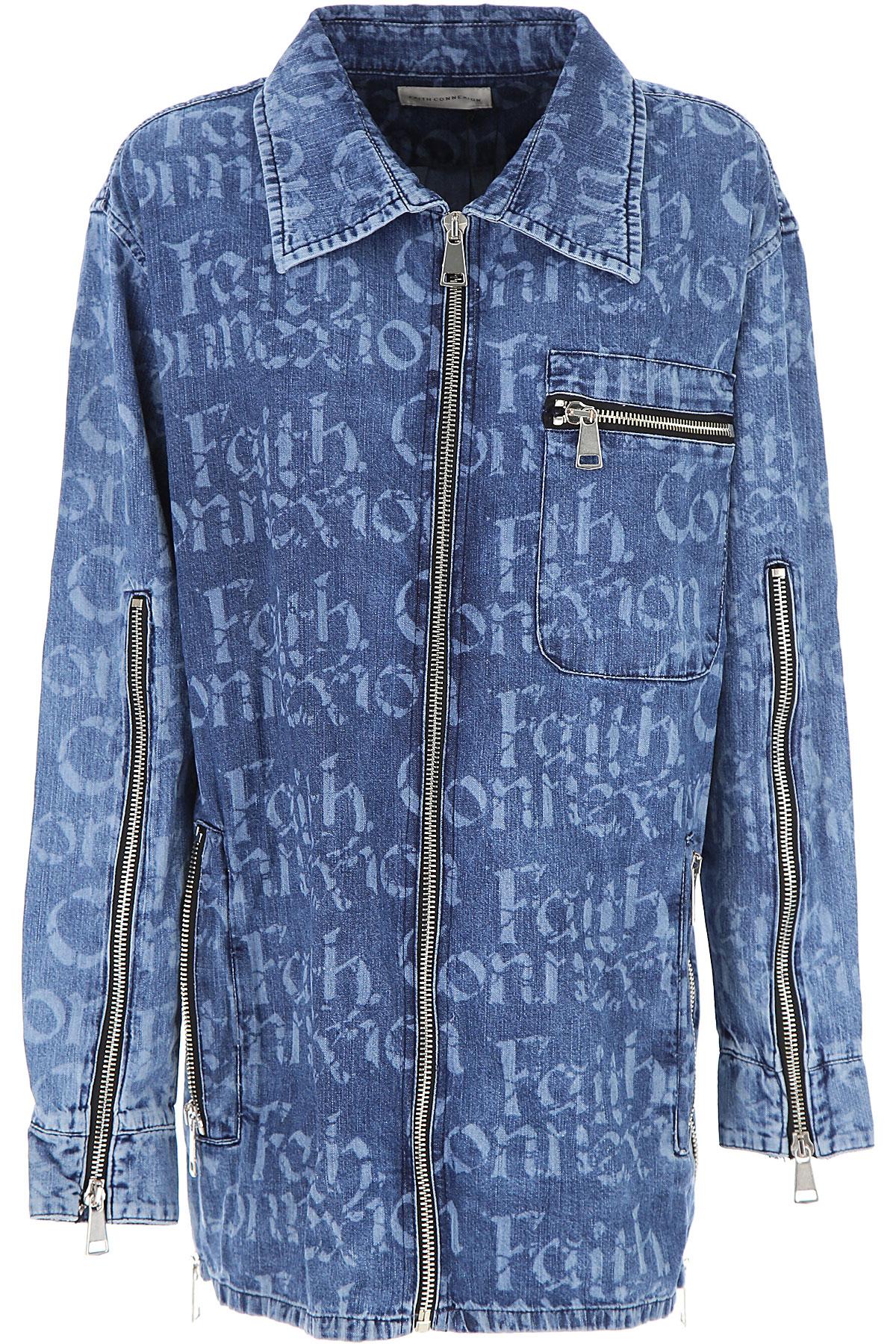 Faith Connexion Jacket for Women On Sale, Denim Blue, Cotton, 2019, 4 6