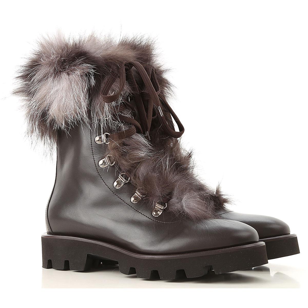 Image of Fabiana Filippi Boots for Women, Booties, Dark Ebony, Leather, 2017, 10 6 7 8 9