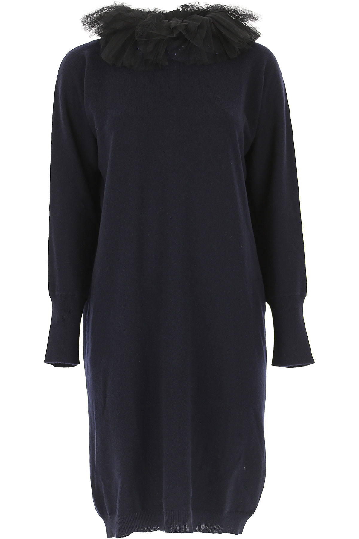 Image of Fabiana Filippi Dress for Women, Evening Cocktail Party, Blue Ink, Cashmere, 2017, 2 4