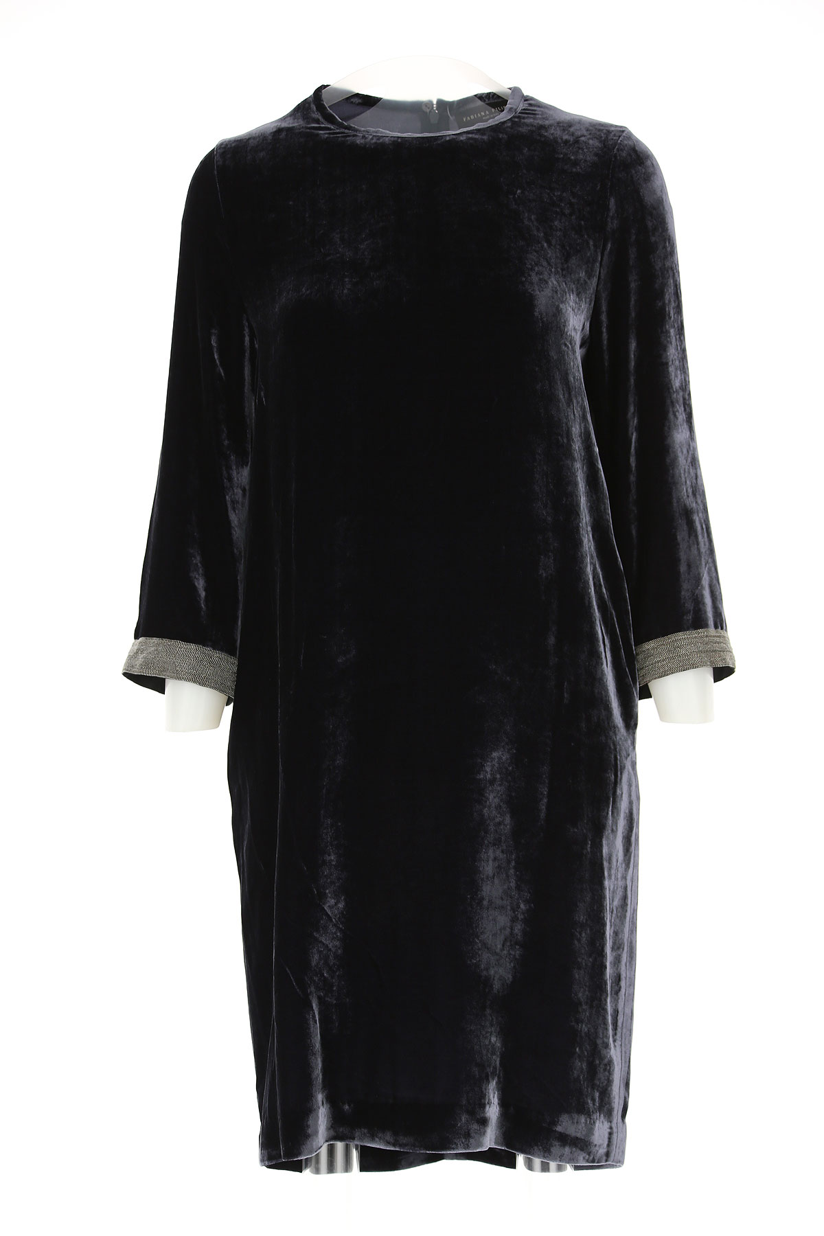 Image of Fabiana Filippi Dress for Women, Evening Cocktail Party, navy, Viscose, 2017, 4 6
