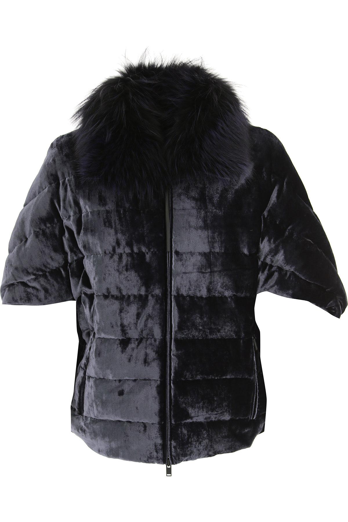 Image of Fabiana Filippi Down Jacket for Women, Puffer Ski Jacket, navy, Viscose, 2017, 6 8