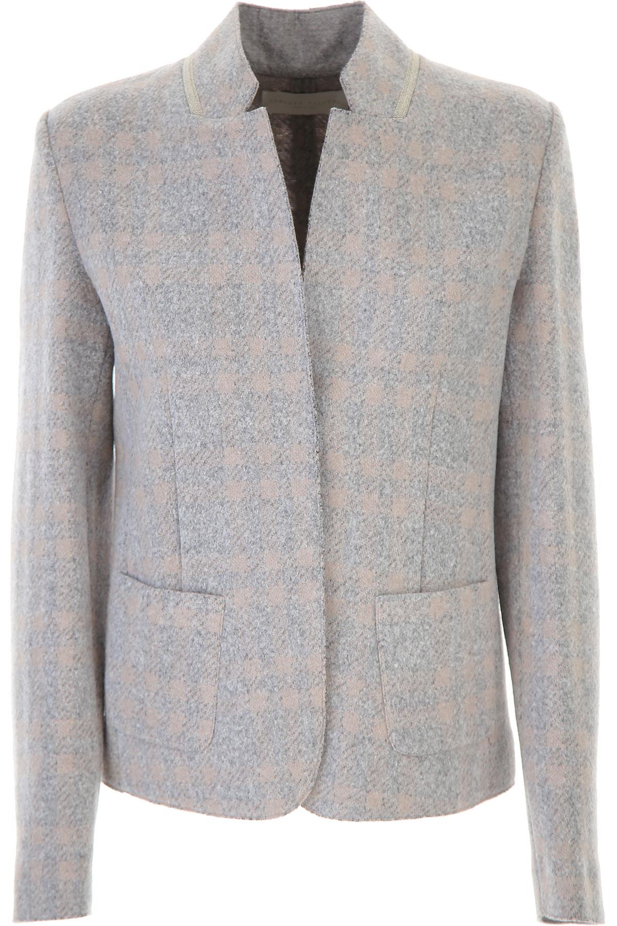 Fabiana Filippi Jacket for Women On Sale, Grey, Virgin wool, 2019, 4 6 8