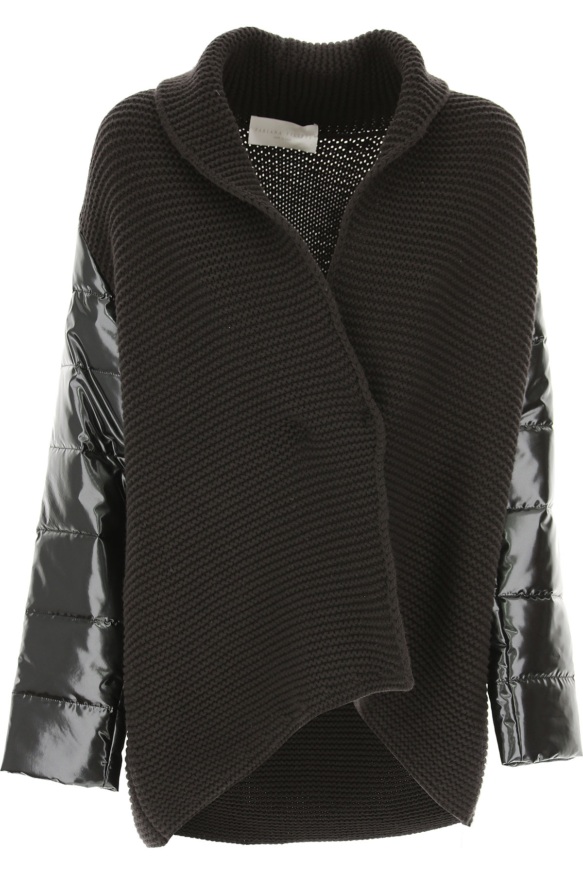 Image of Fabiana Filippi Jacket for Women, Grey, merino wool, 2017, 4 6 8