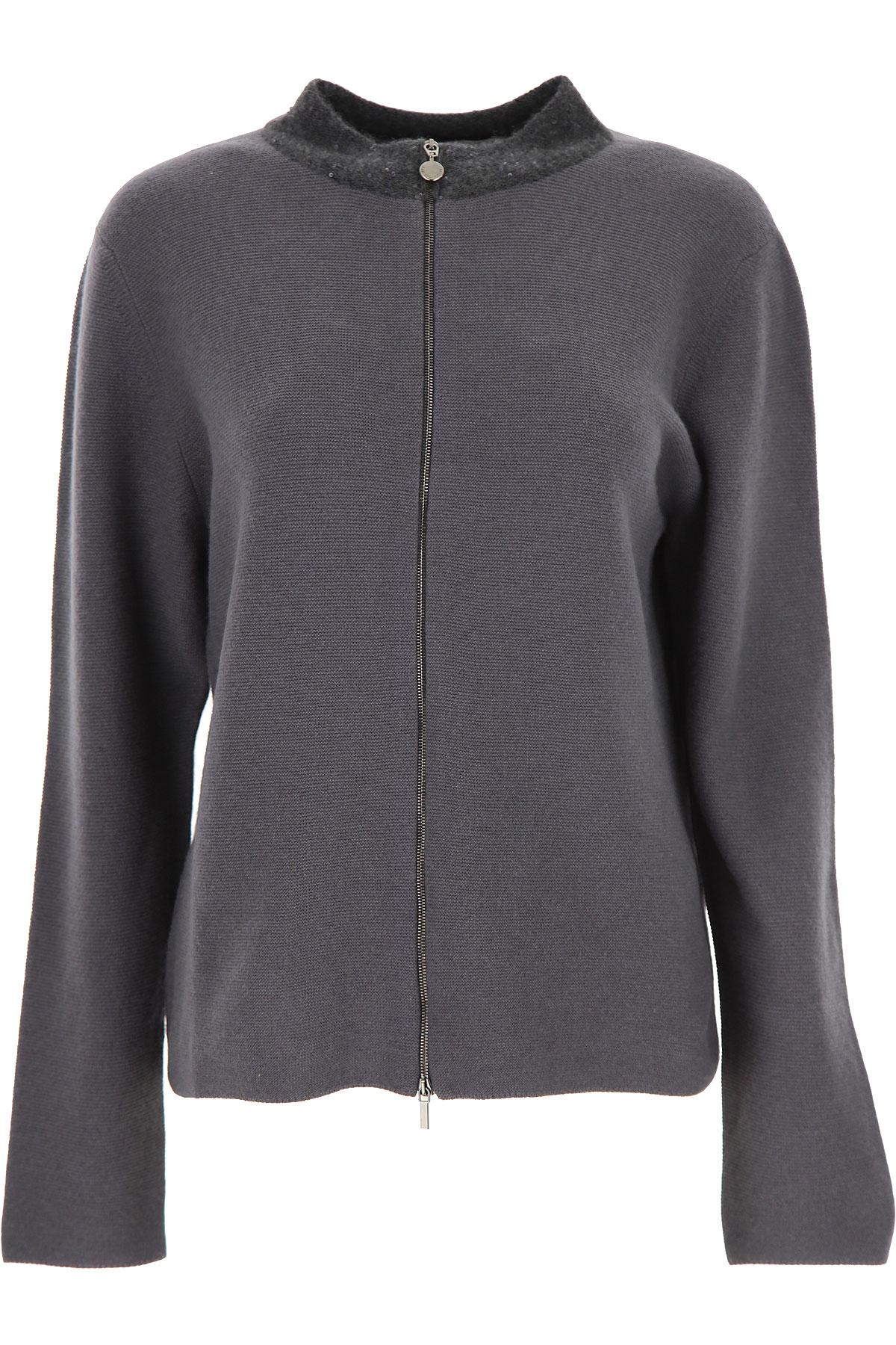 Fabiana Filippi Sweater for Women Jumper On Sale, antracite, Virgin wool, 2019, 4 6 8
