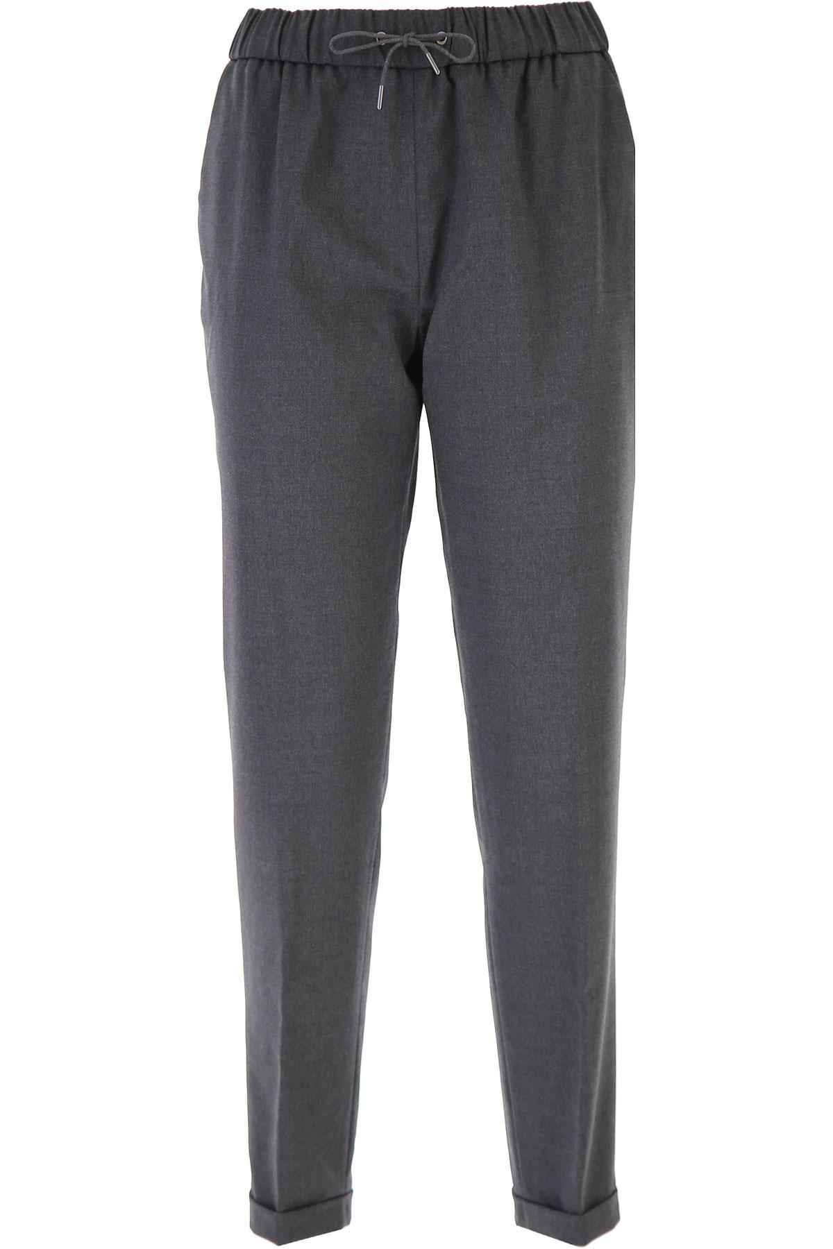Fabiana Filippi Pants for Women On Sale, antracite, Wool, 2019, 26 28 30