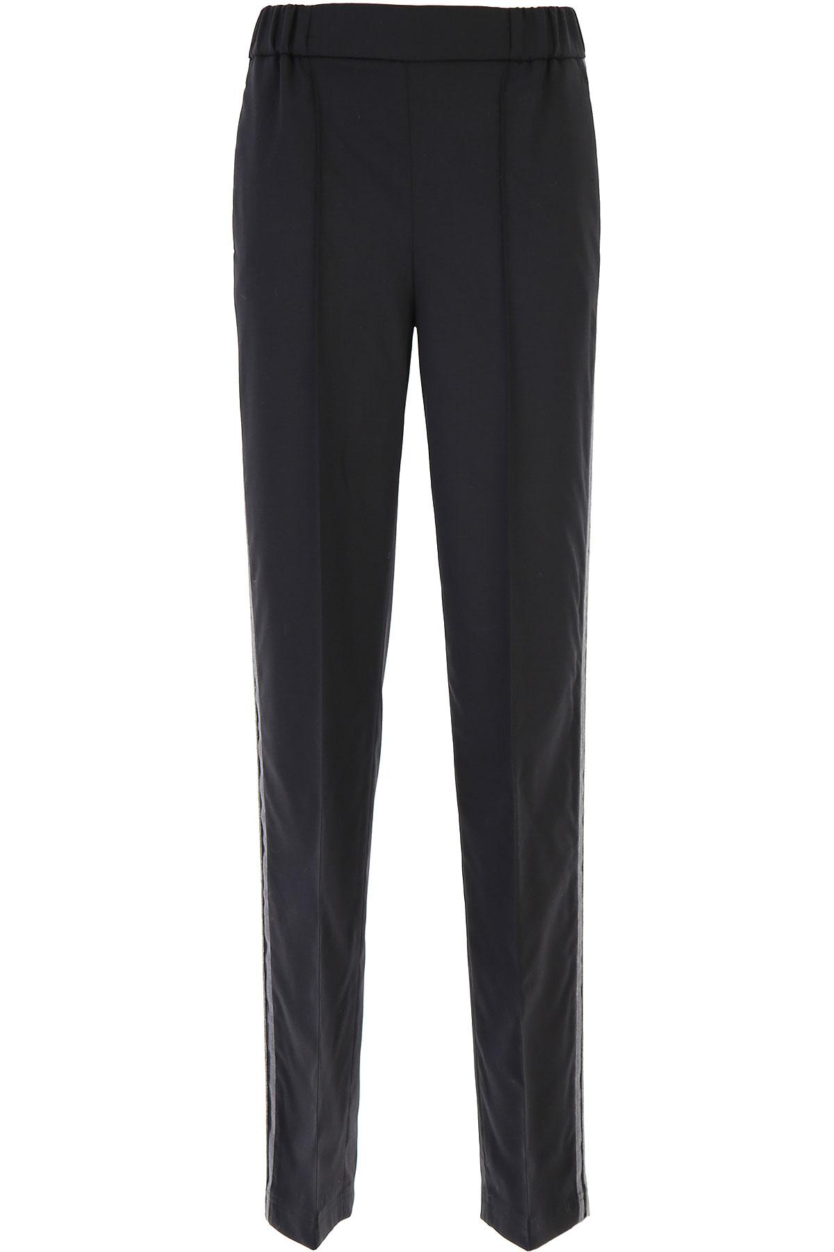 Fabiana Filippi Pants for Women On Sale, Black, Virgin wool, 2019, 26 28