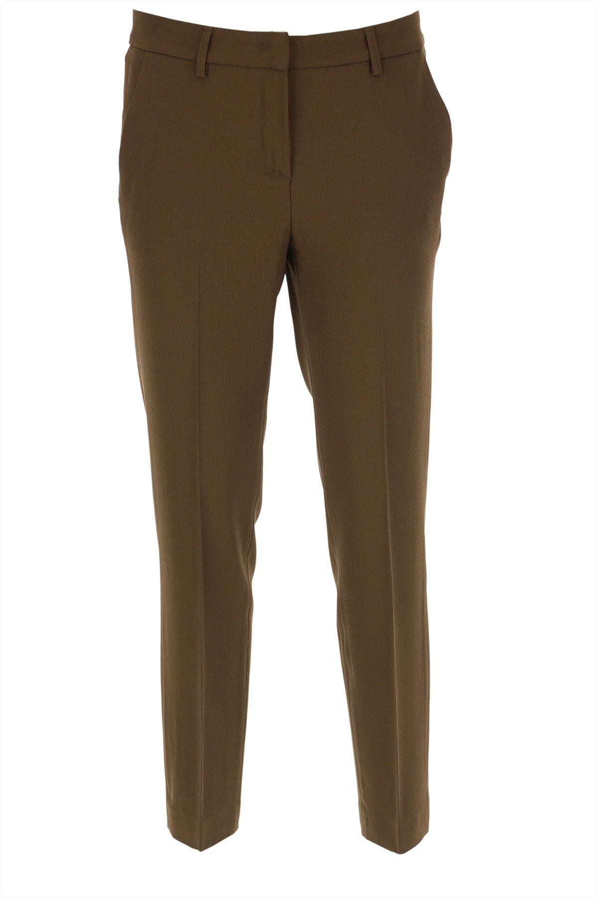 Fabiana Filippi Pants for Women On Sale, Brown, Virgin wool, 2019, 28 30
