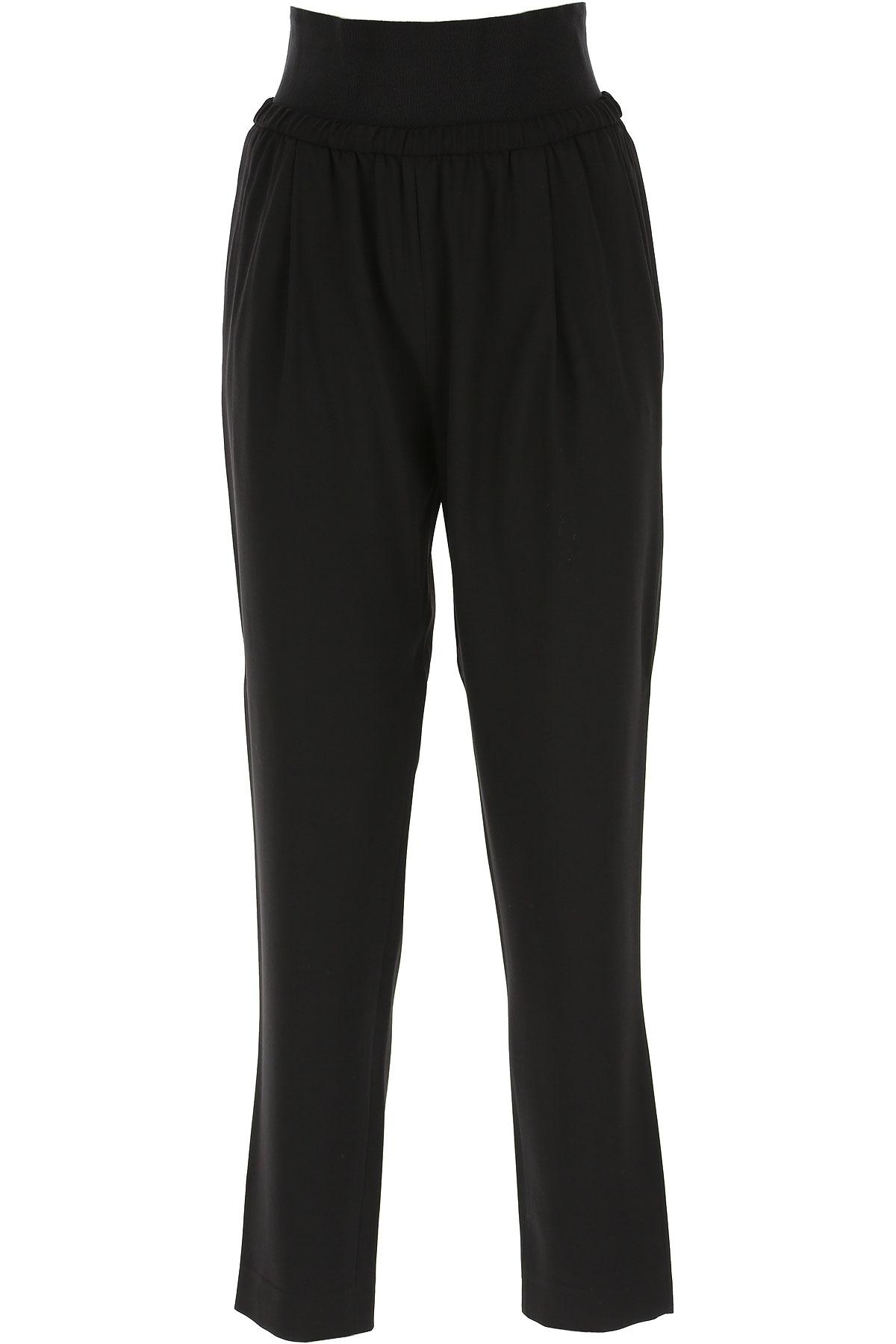 Fabiana Filippi Pants for Women On Sale, Black, Virgin wool, 2019, 26 28 30