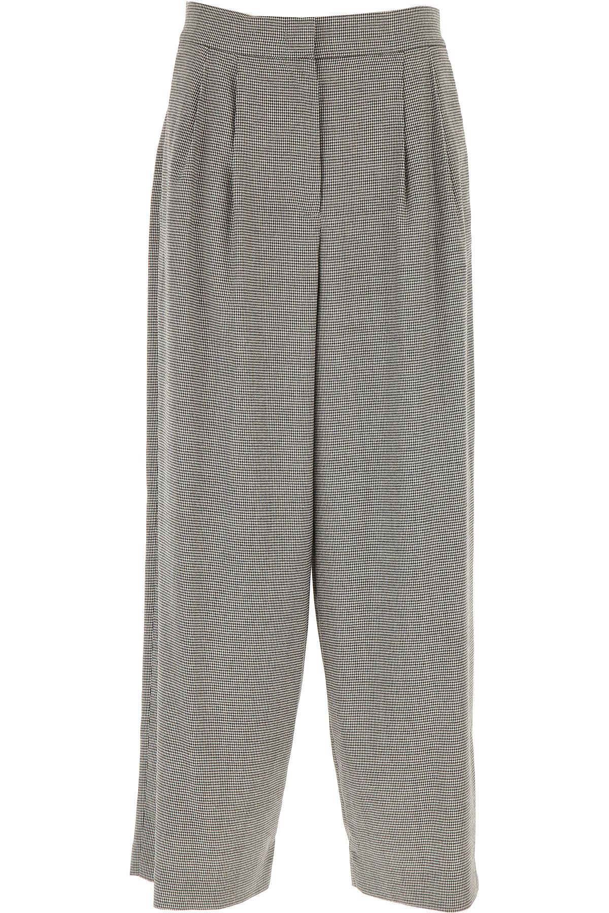 Fabiana Filippi Pants for Women On Sale, White, Virgin wool, 2019, 24 28