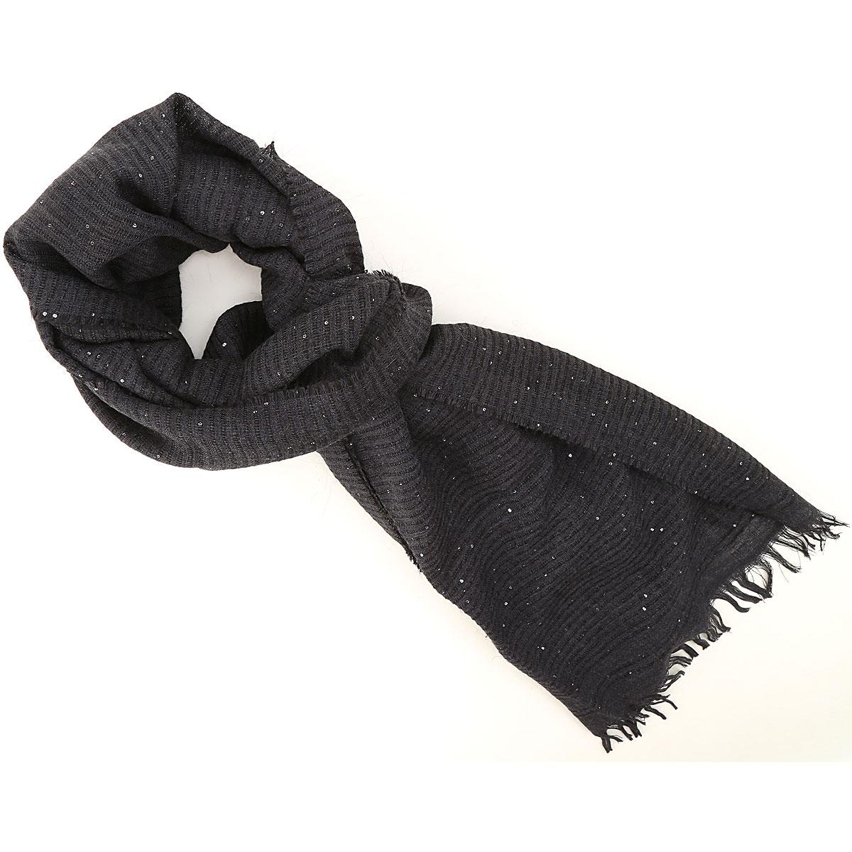 Fabiana Filippi Scarf for Women On Sale, Dark Blu, Wool, 2019, Universal size Universal size