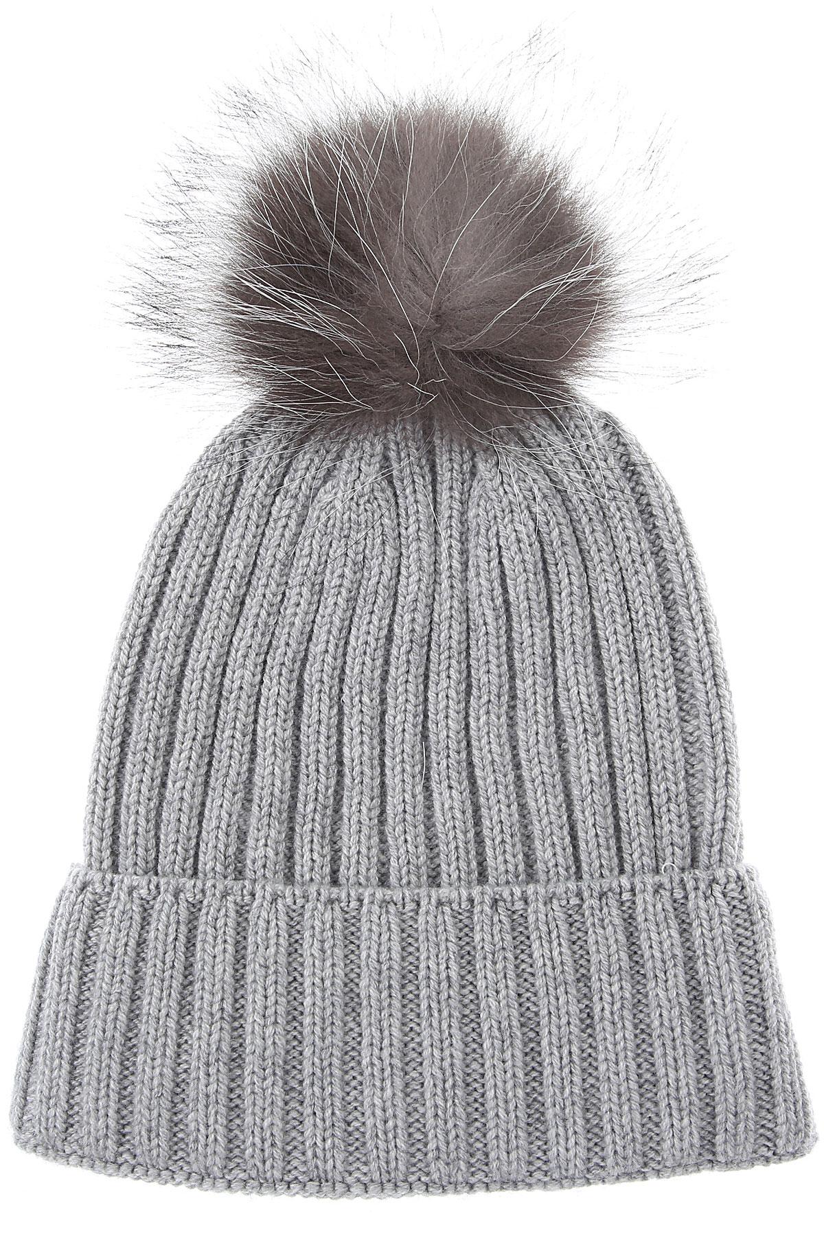 Fabiana Filippi Hat for Women On Sale, Grey, Wool, 2019