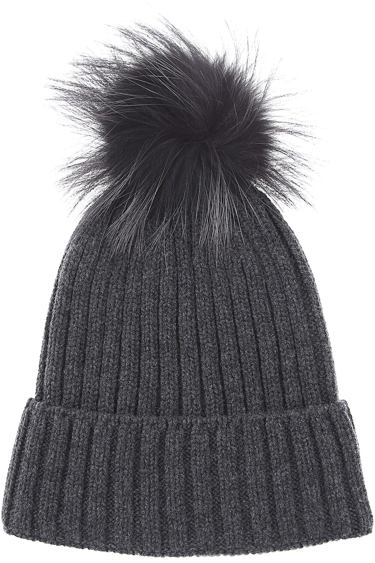Fabiana Filippi Hat for Women On Sale, Deep Blue Antracite, Wool, 2019