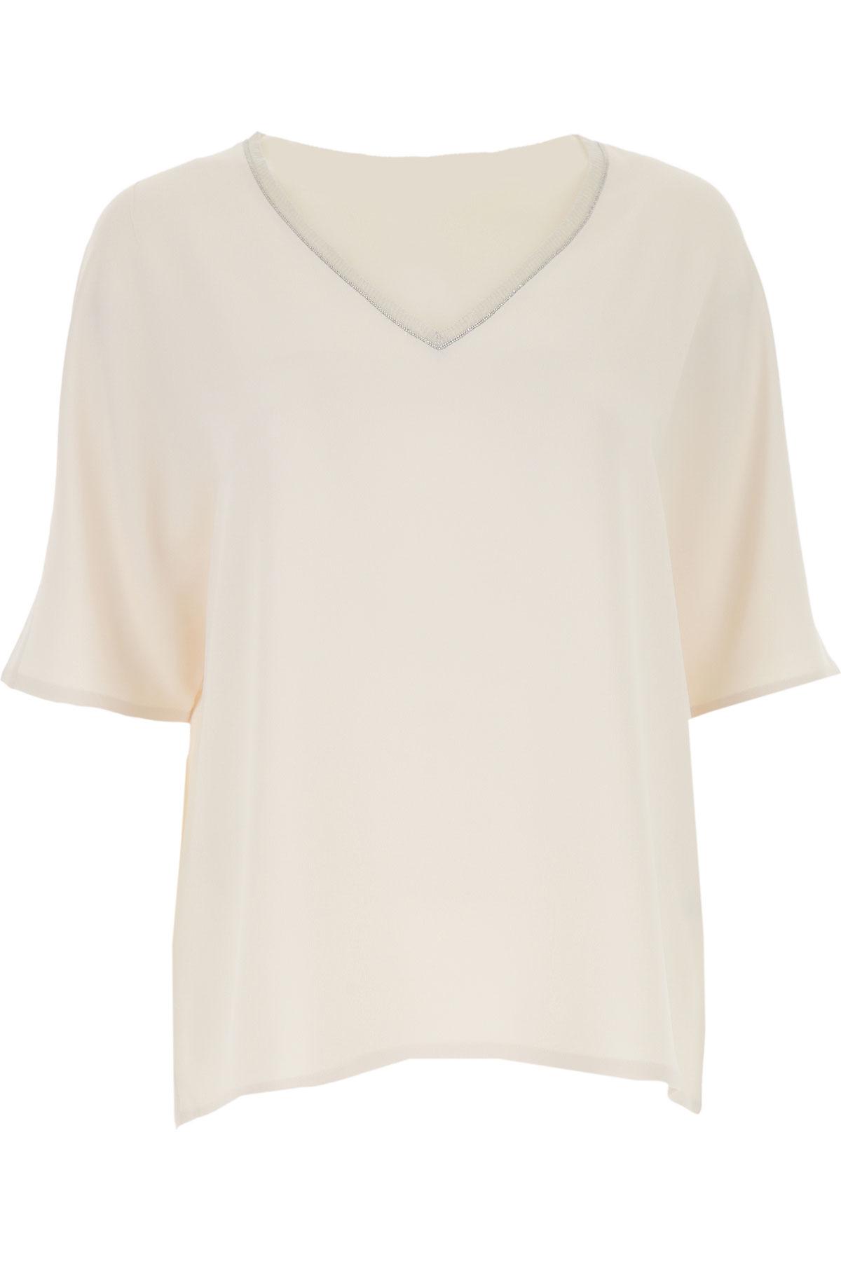 Fabiana Filippi T-shirt Femme Pas cher en Soldes, Naturel, Acrylique, 2019, 44 46 M