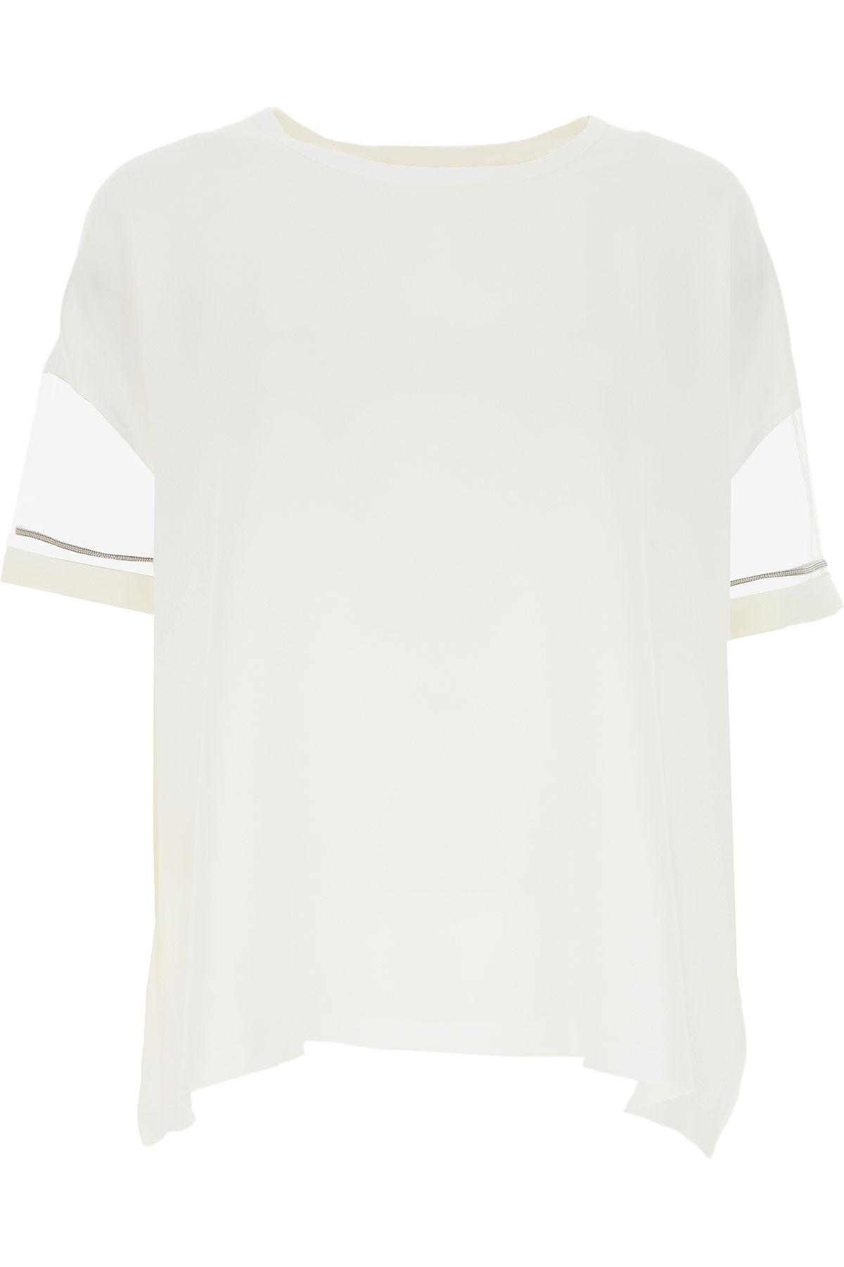 Fabiana Filippi T-shirt Femme Pas cher en Soldes, Blanc, Acrylique, 2019, 40 44 46 48 M
