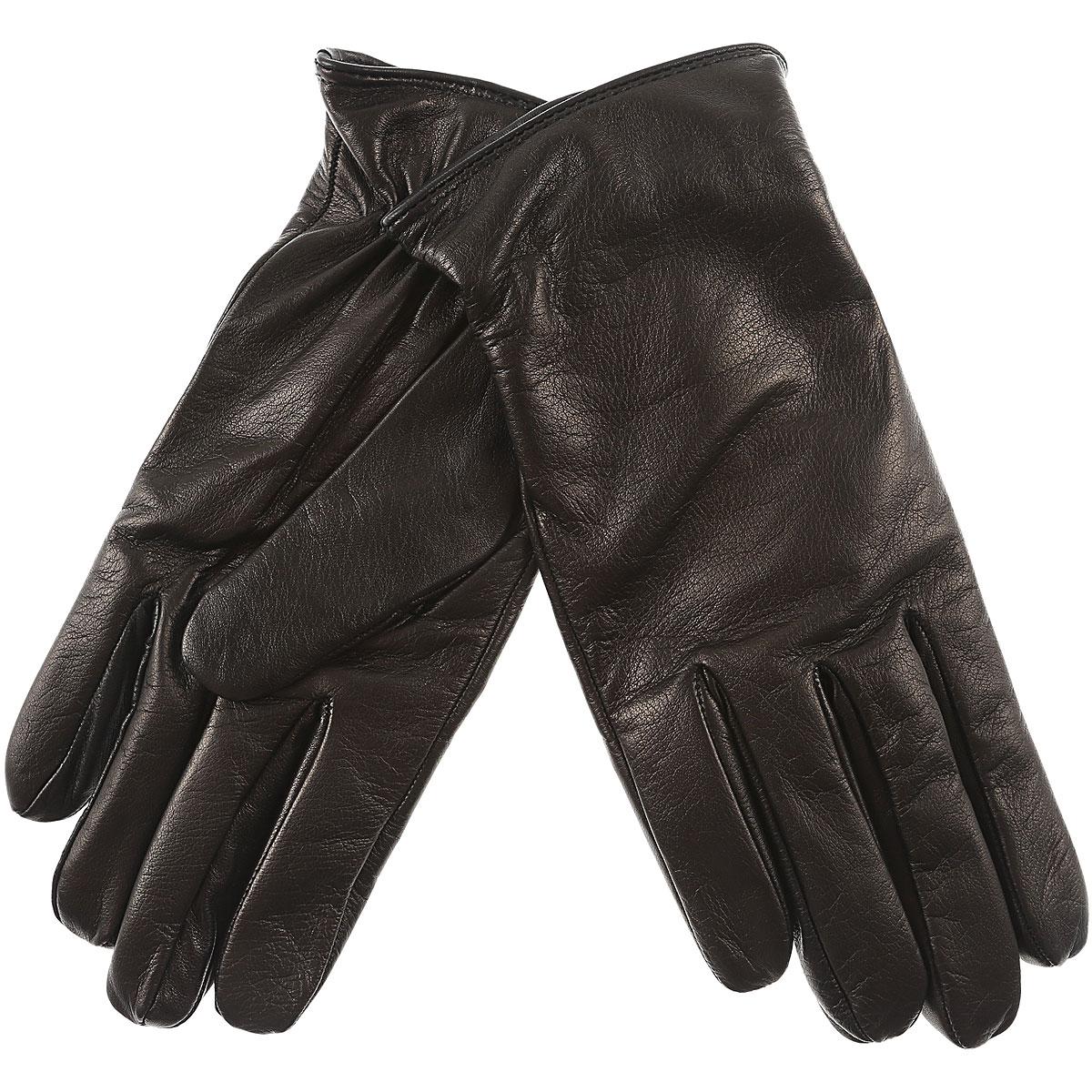 Image of Fay Gloves for Men, Black, Leather, 2017, L M