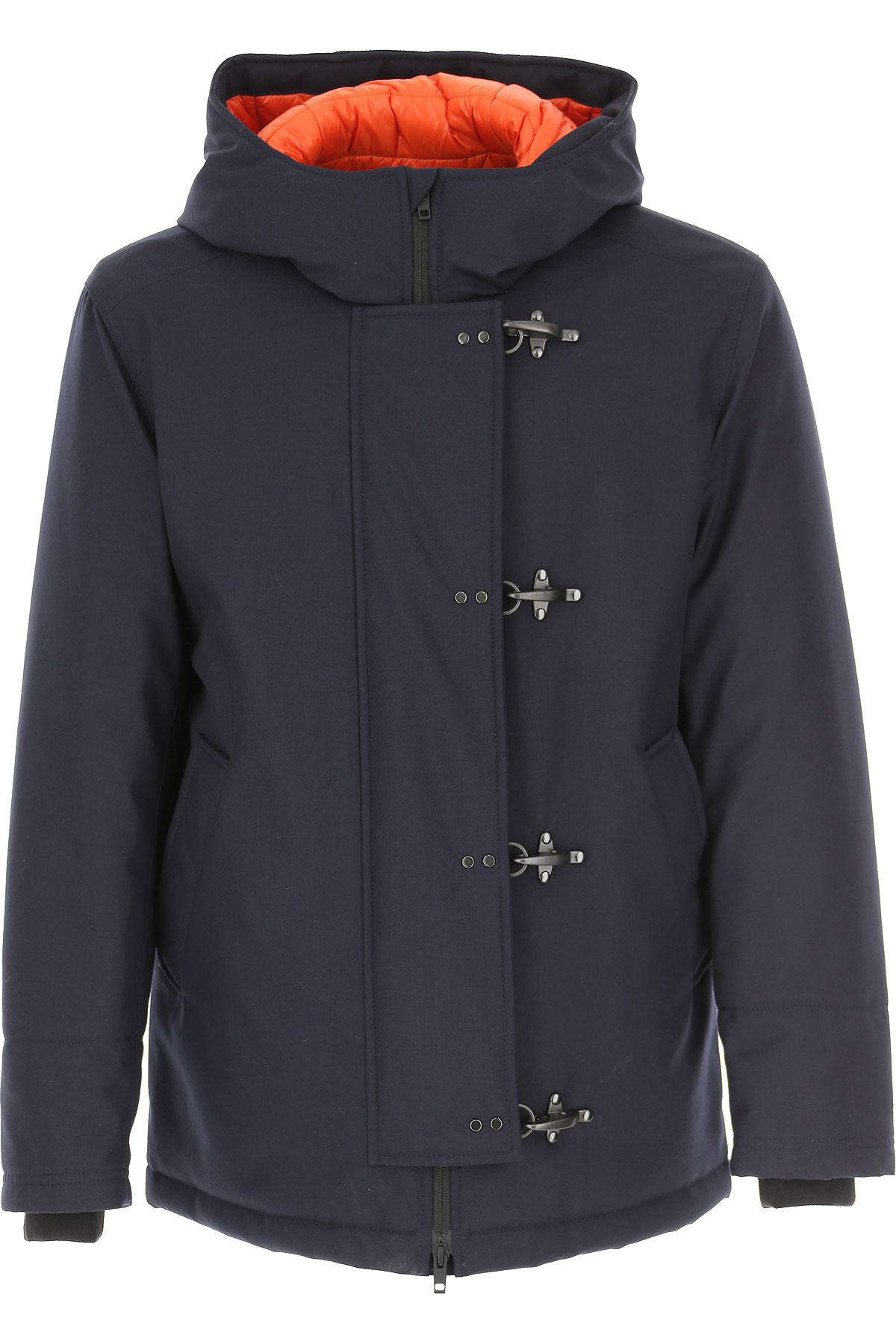 Fay Down Jacket for Men, Puffer Ski Jacket On Sale, Dark Blue, Down, 2019, L M S XL