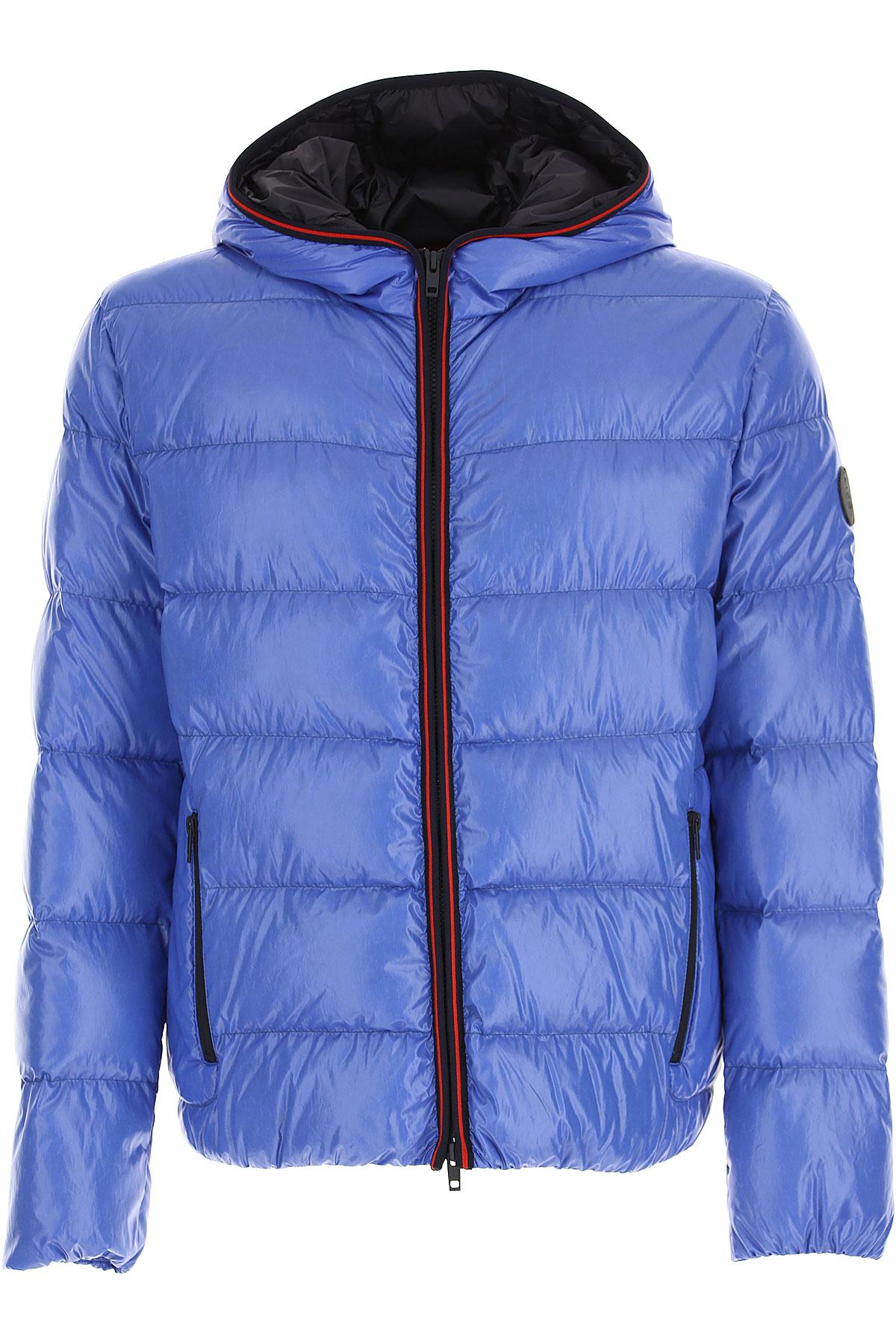 Fay Down Jacket for Men, Puffer Ski Jacket, Light Blue, polyamide, 2019, L M S XL