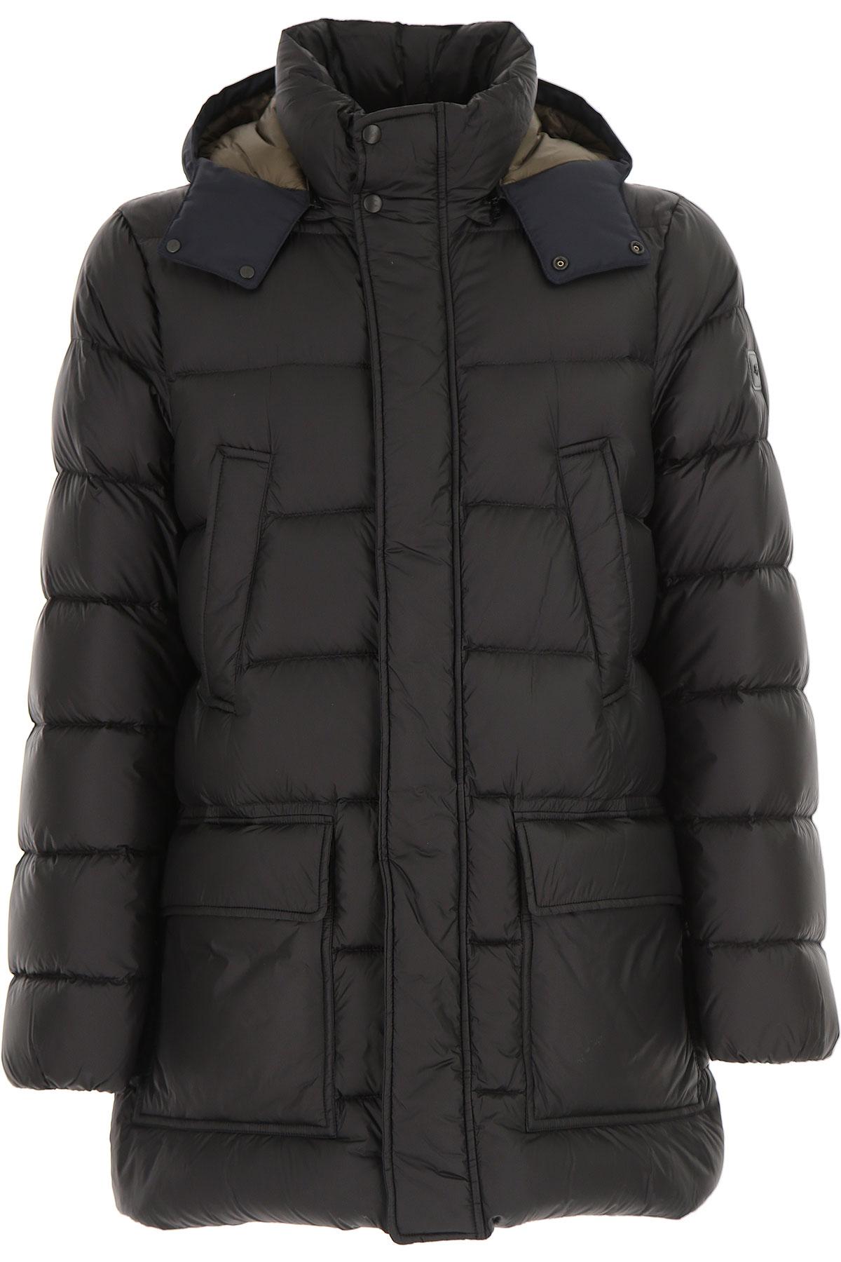 Image of Fay Down Jacket for Men, Puffer Ski Jacket, Black, Down, 2017, L M XL