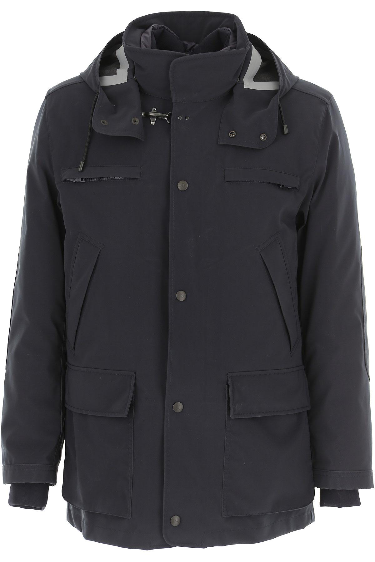 Fay Down Jacket for Men, Puffer Ski Jacket, Navy Blue, Down, 2019, L M S XL XXL