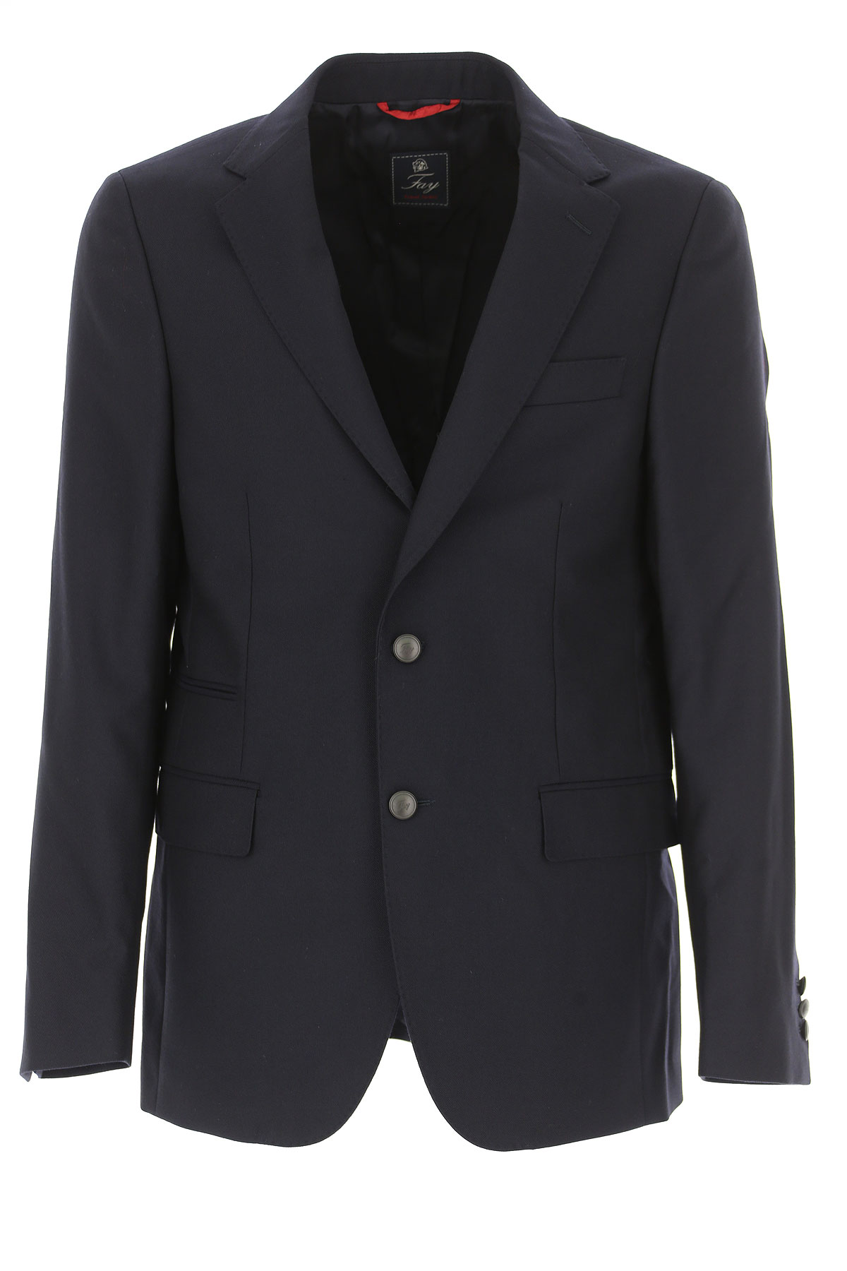 Image of Fay Blazer for Men, Sport Coat, Navy Blue, polyestere, 2017, L M