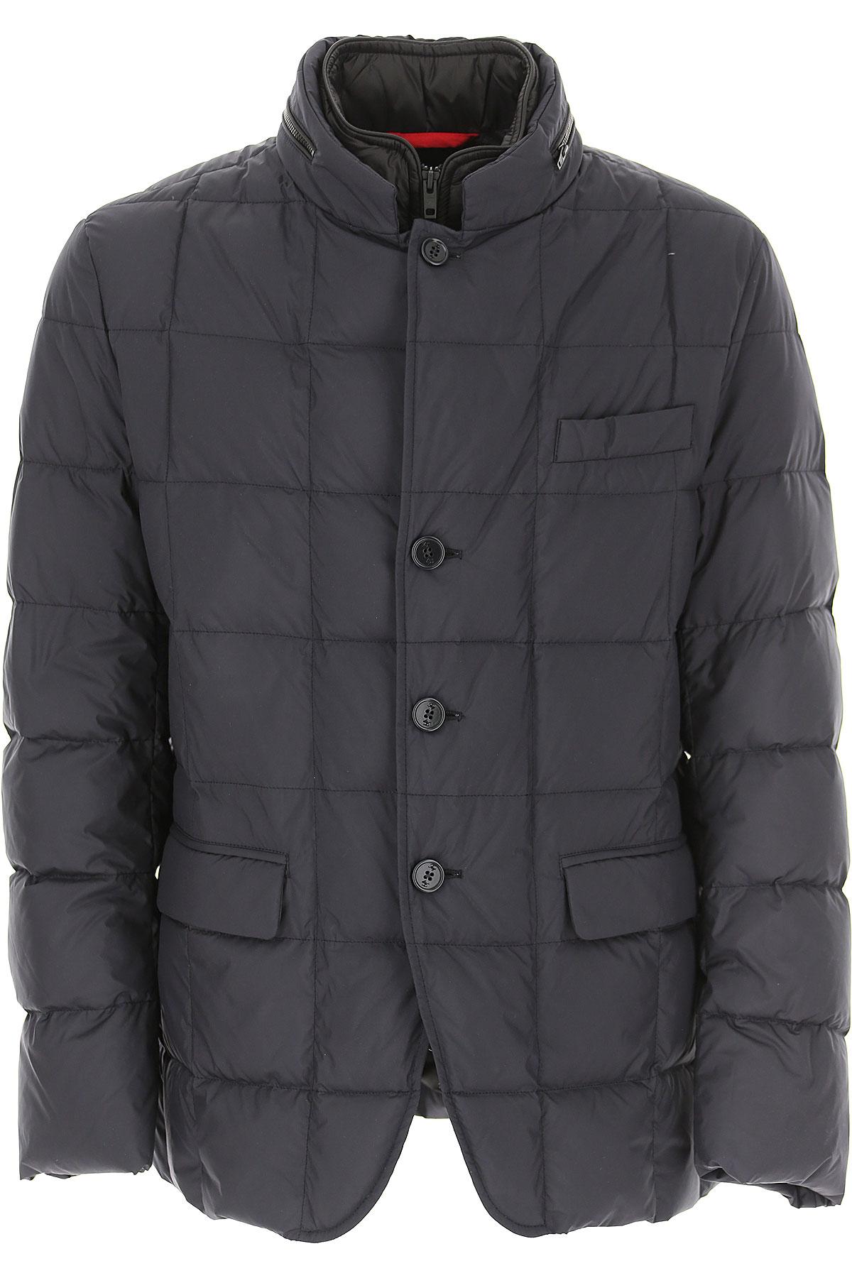 Fay Down Jacket for Men, Puffer Ski Jacket On Sale, Dark Midnight Blue, Down, 2019, L M XL XXL