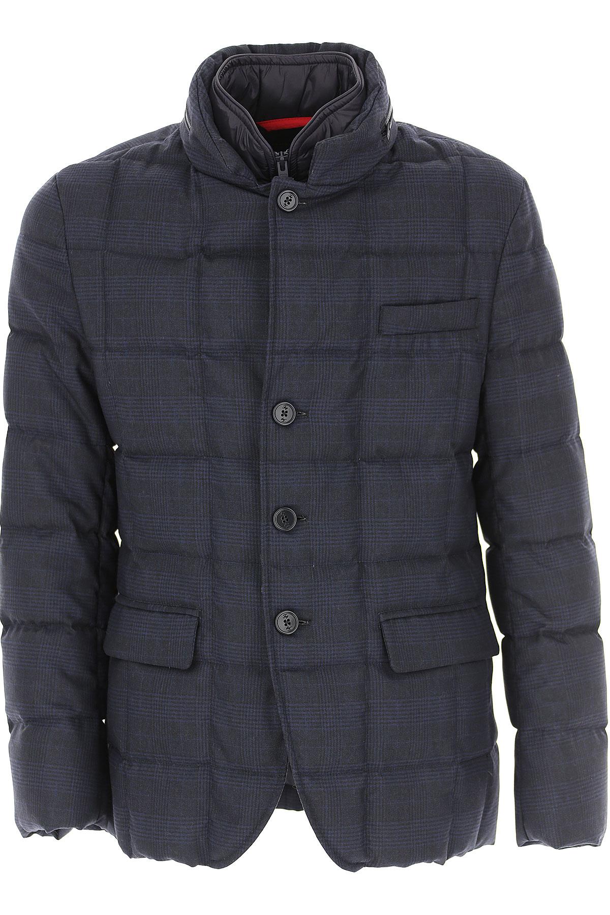 Fay Down Jacket for Men, Puffer Ski Jacket On Sale, Dark Blue, Down, 2019, L M XL