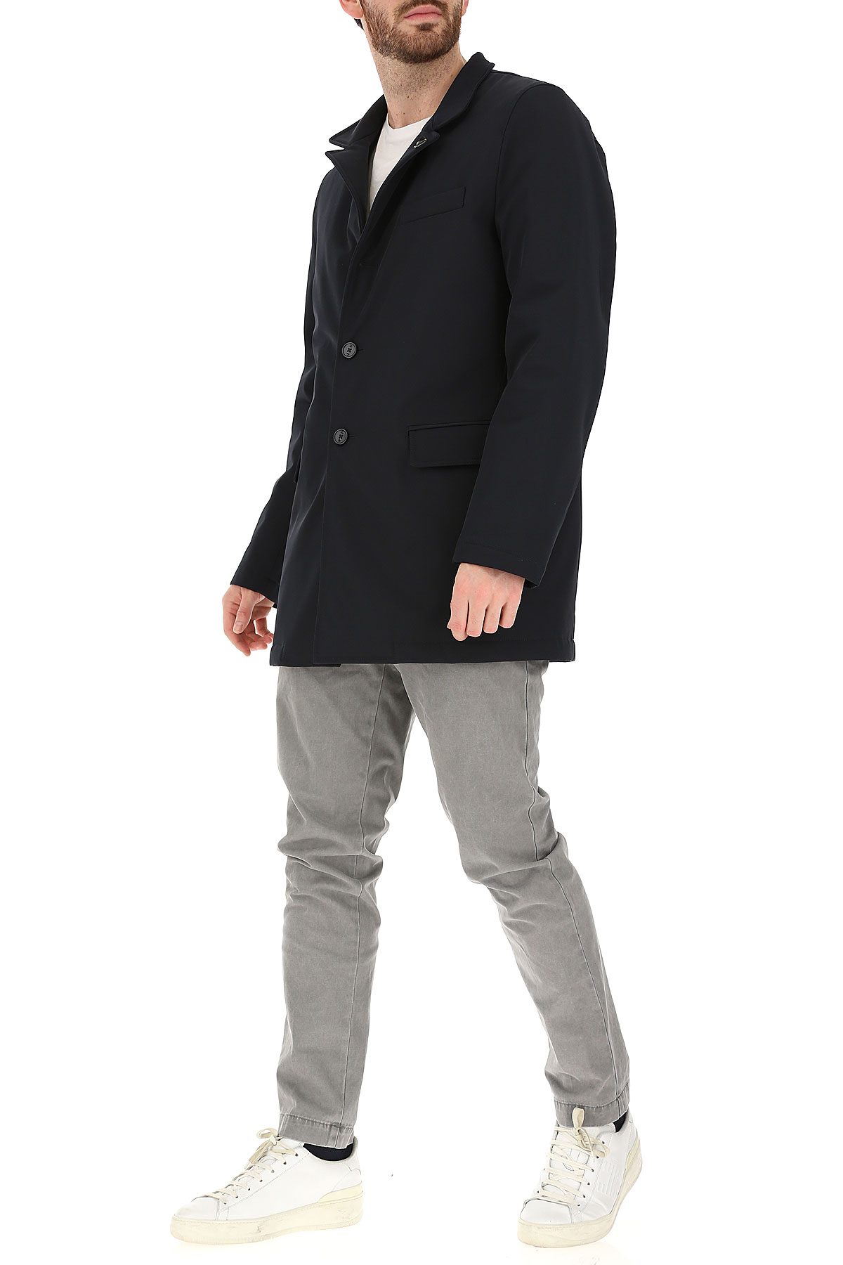 Fay Jacket for Men On Sale, Dark Blue, polyester, 2019, M XL