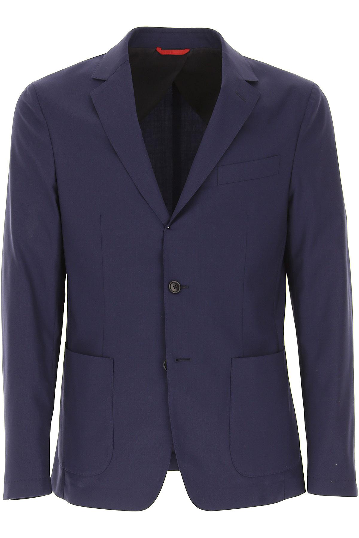 Image of Fay Blazer for Men, Sport Coat On Sale, Dark Blue, Wool, 2017, L M S XXL