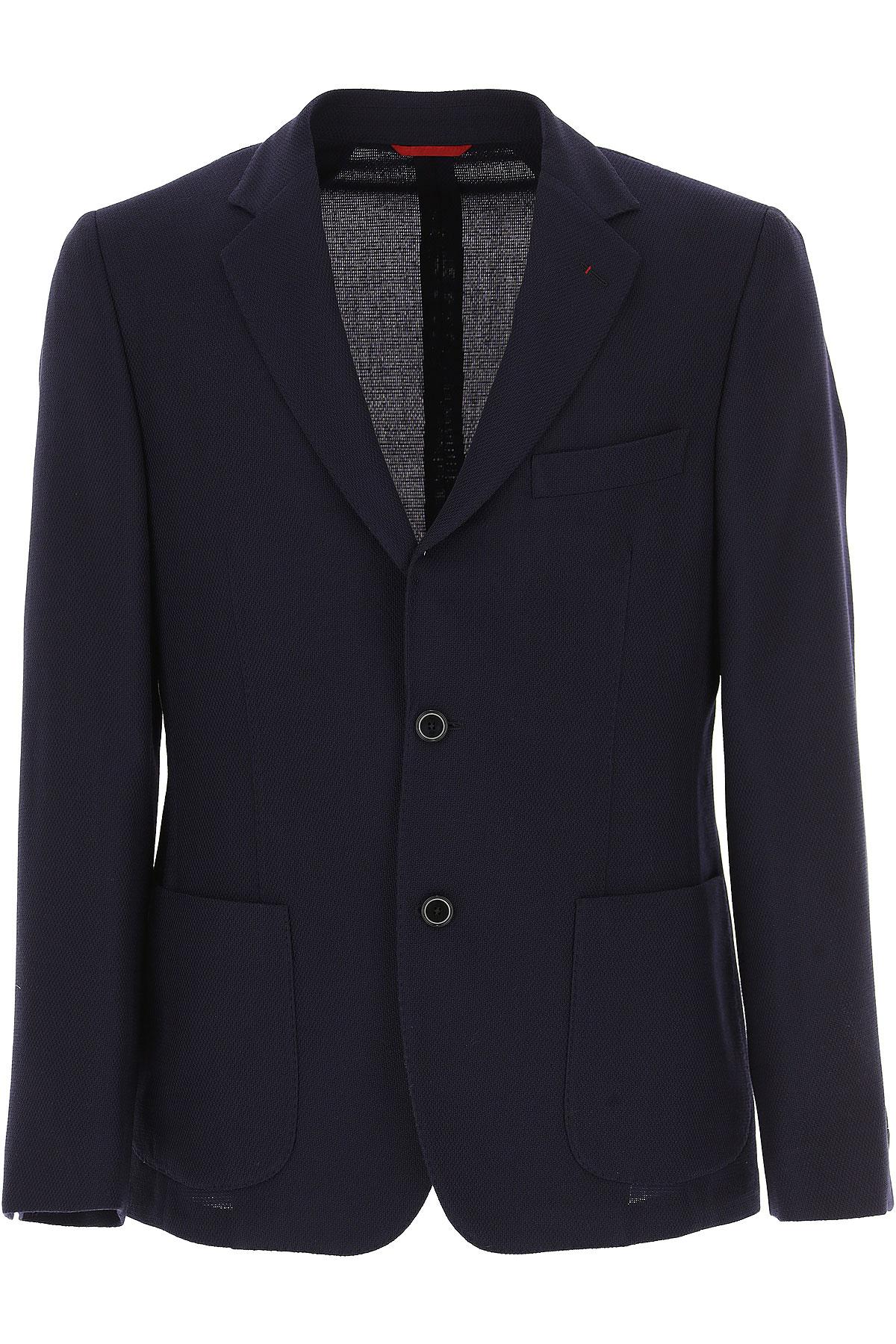 Image of Fay Blazer for Men, Sport Coat On Sale, navy, Virgin wool, 2017, L M XL