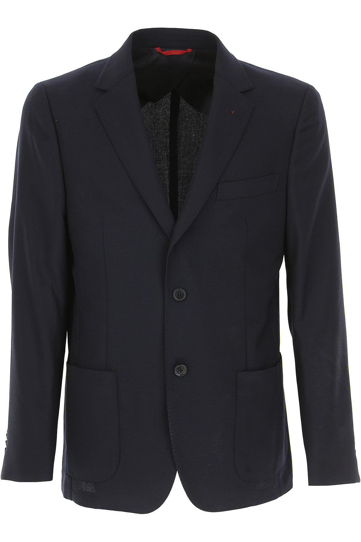 Image of Fay Blazer for Men, Sport Coat, Navy Blue, Wool, 2017, L M