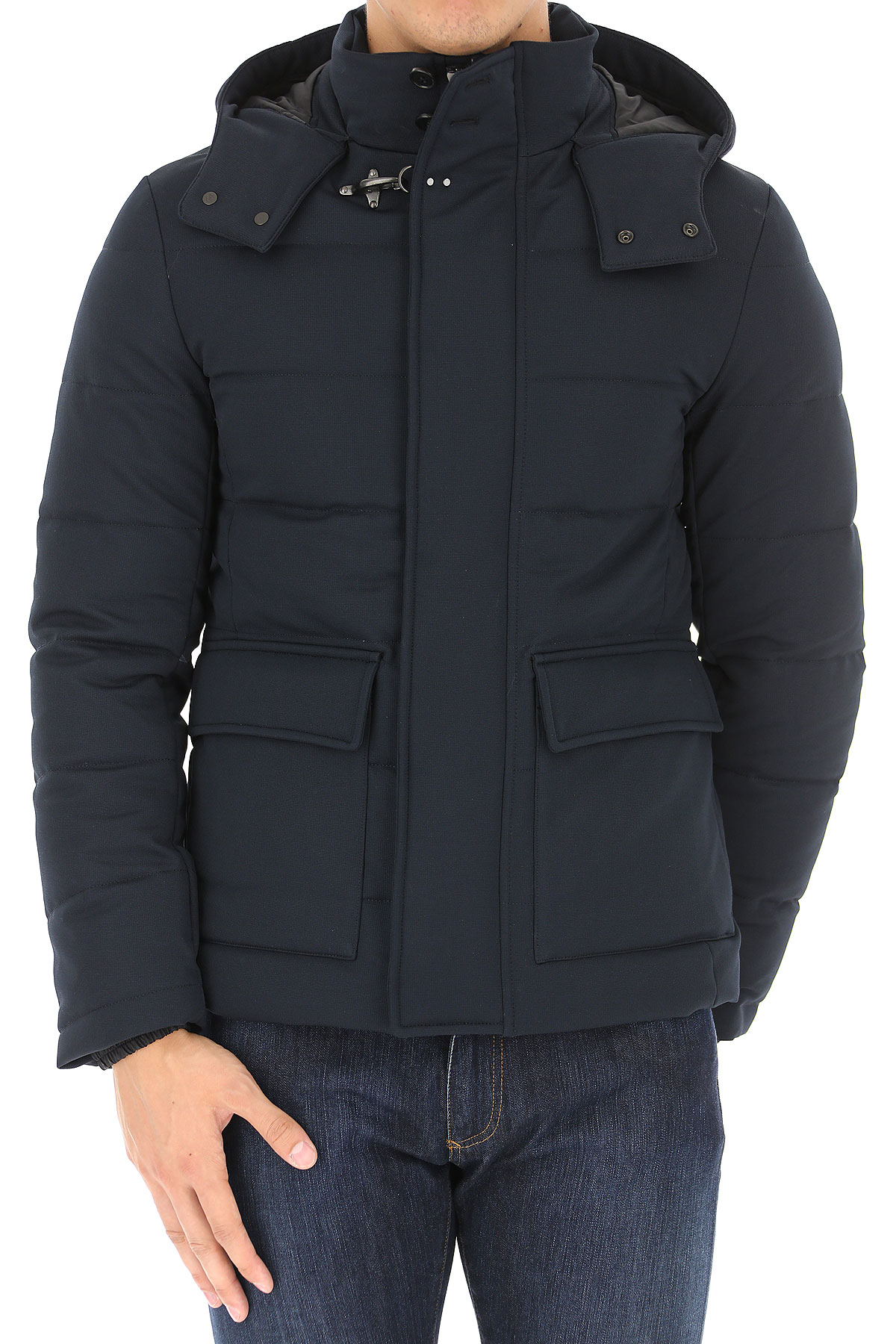 Image of Fay Blazer for Men, Sport Coat, Navy Blue, Wool, 2017, L M XL XXL XXXL