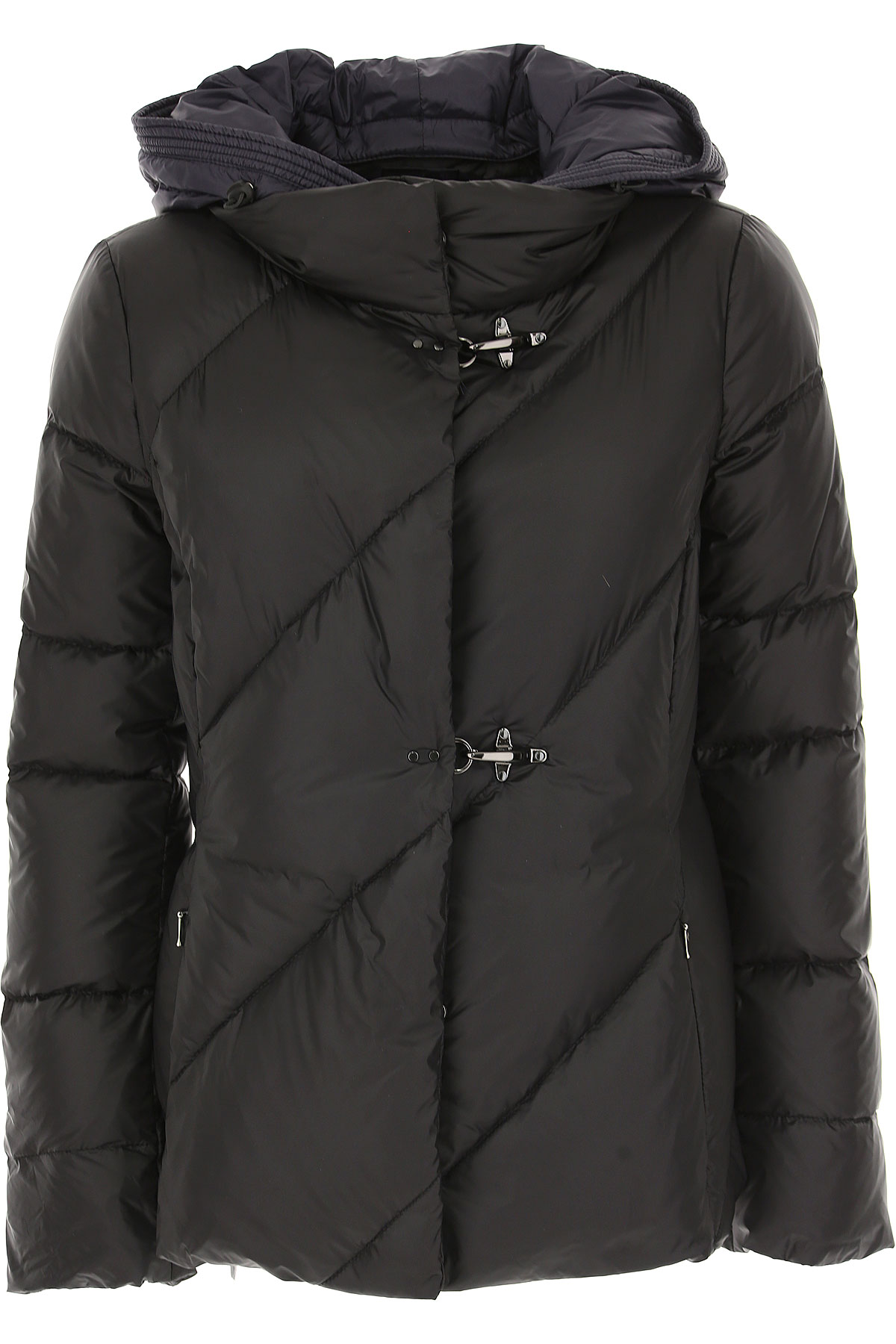 Fay Down Jacket for Women, Puffer Ski Jacket On Sale, Black, Down, 2019, 10 8