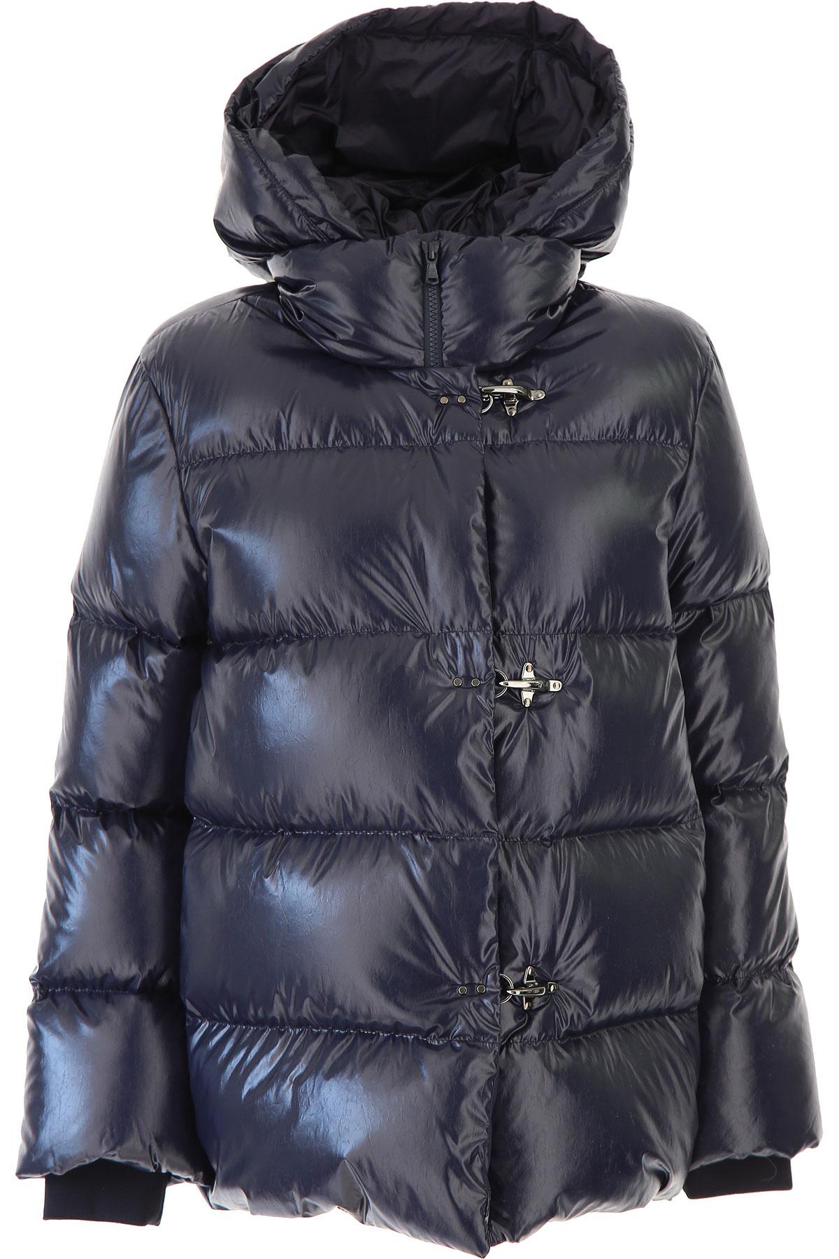 Fay Down Jacket for Women, Puffer Ski Jacket, Midnight Blue, Down, 2019, 4 6