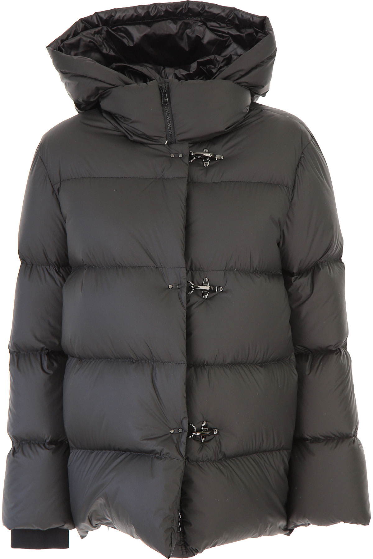 Fay Down Jacket for Women, Puffer Ski Jacket On Sale, Black, Down, 2019, 4 6