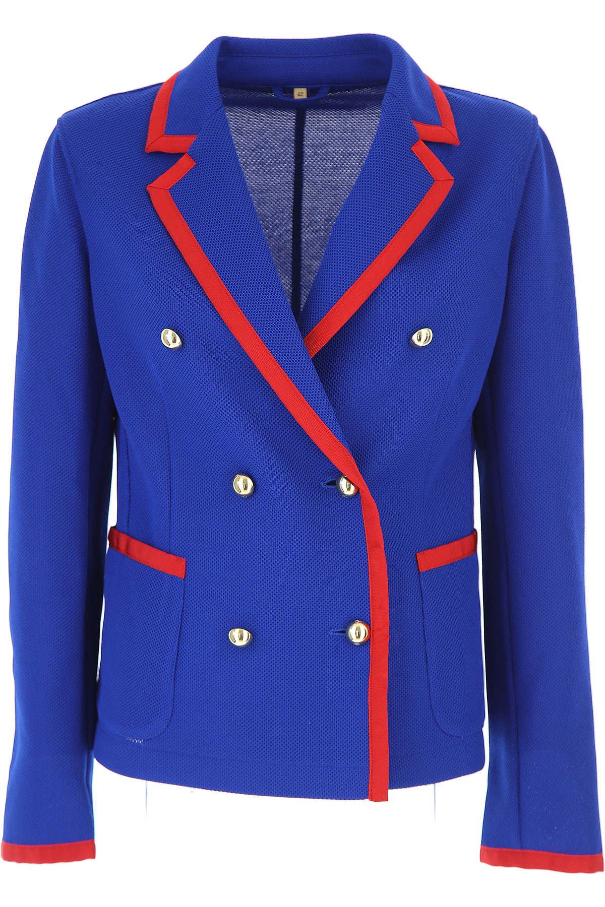 Image of Fay Blazer for Women On Sale, Bluette, polyester, 2017, 4 6