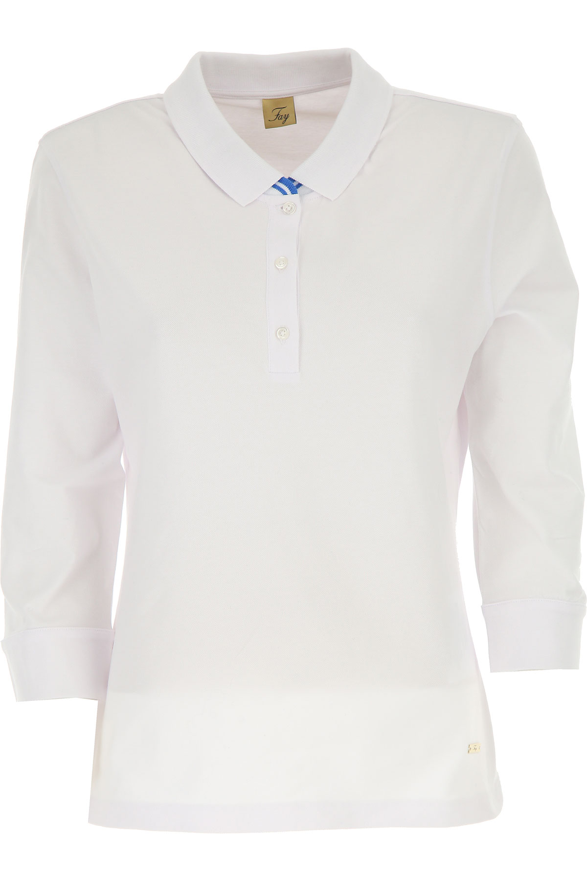 Image of Fay Polo Shirt for Women On Sale, White, Cotton, 2017, 10 6 8