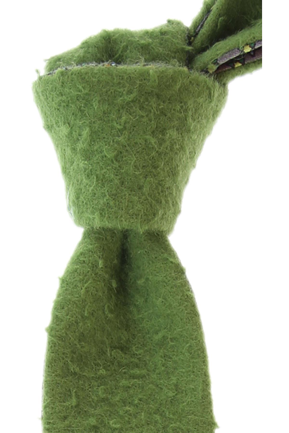 Fefe Napoli Ties On Sale, Light Green, Silk, 2019