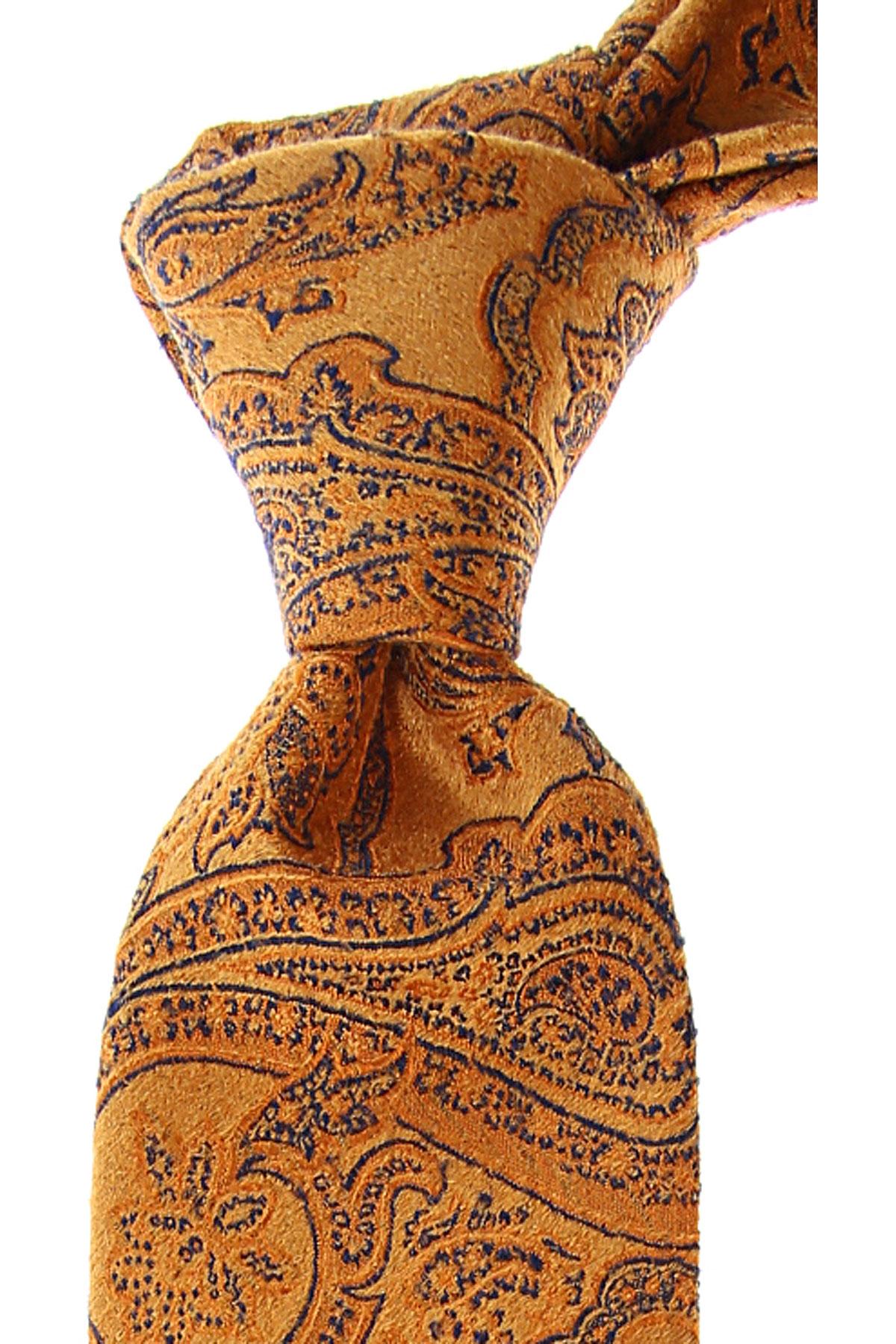 Fefe Napoli Ties On Sale, Orange, Wool, 2019