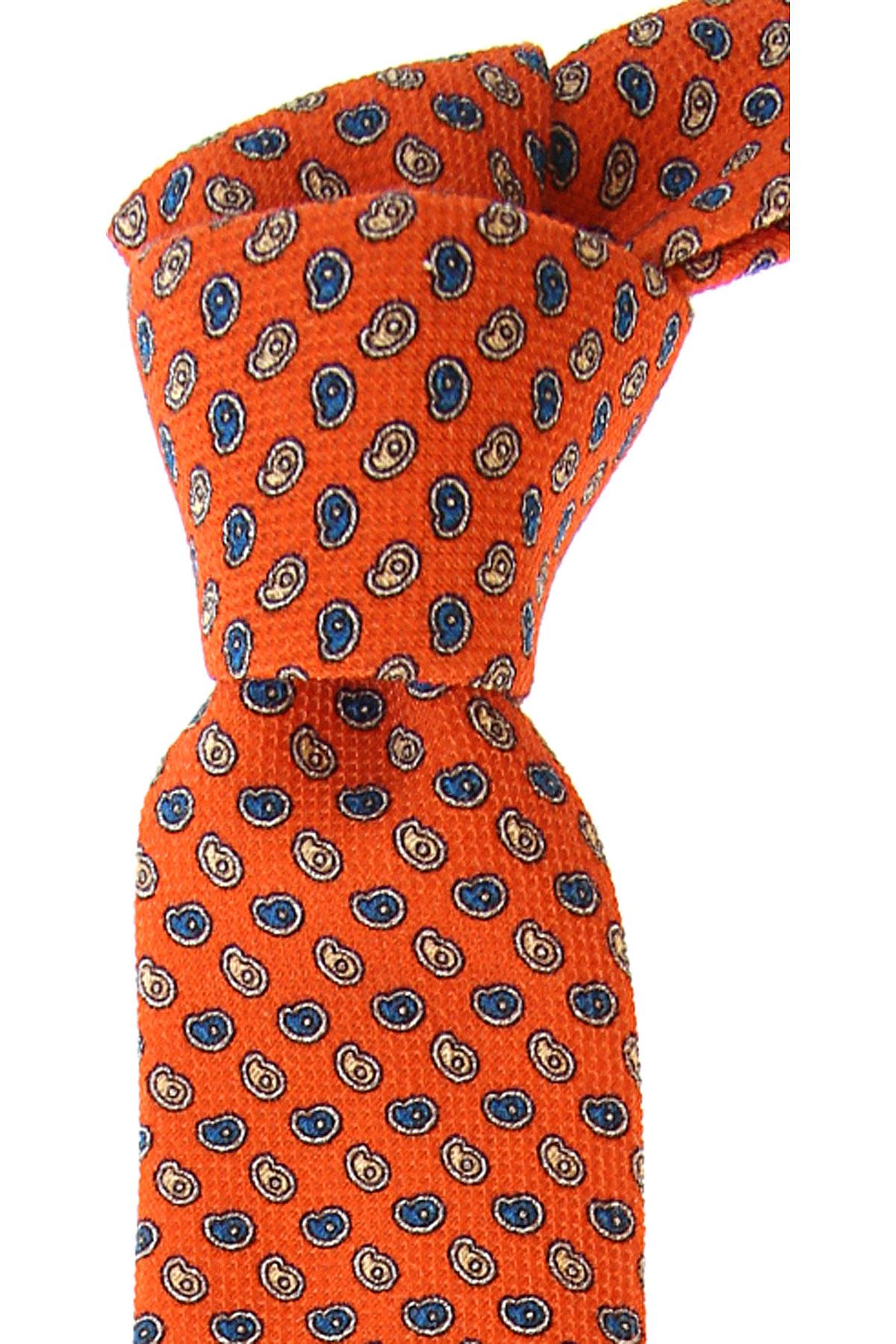 Fefe Napoli Ties On Sale, Mandarin Orange, Cotton, 2019
