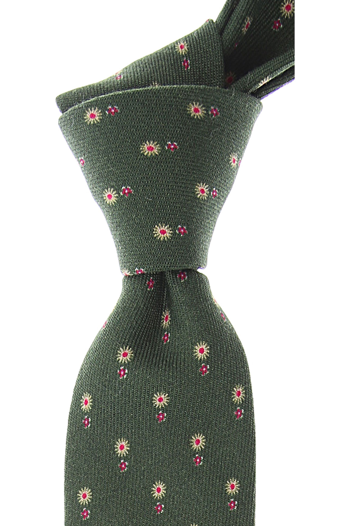 Fefe Napoli Ties On Sale, Forest Green, Wool, 2019