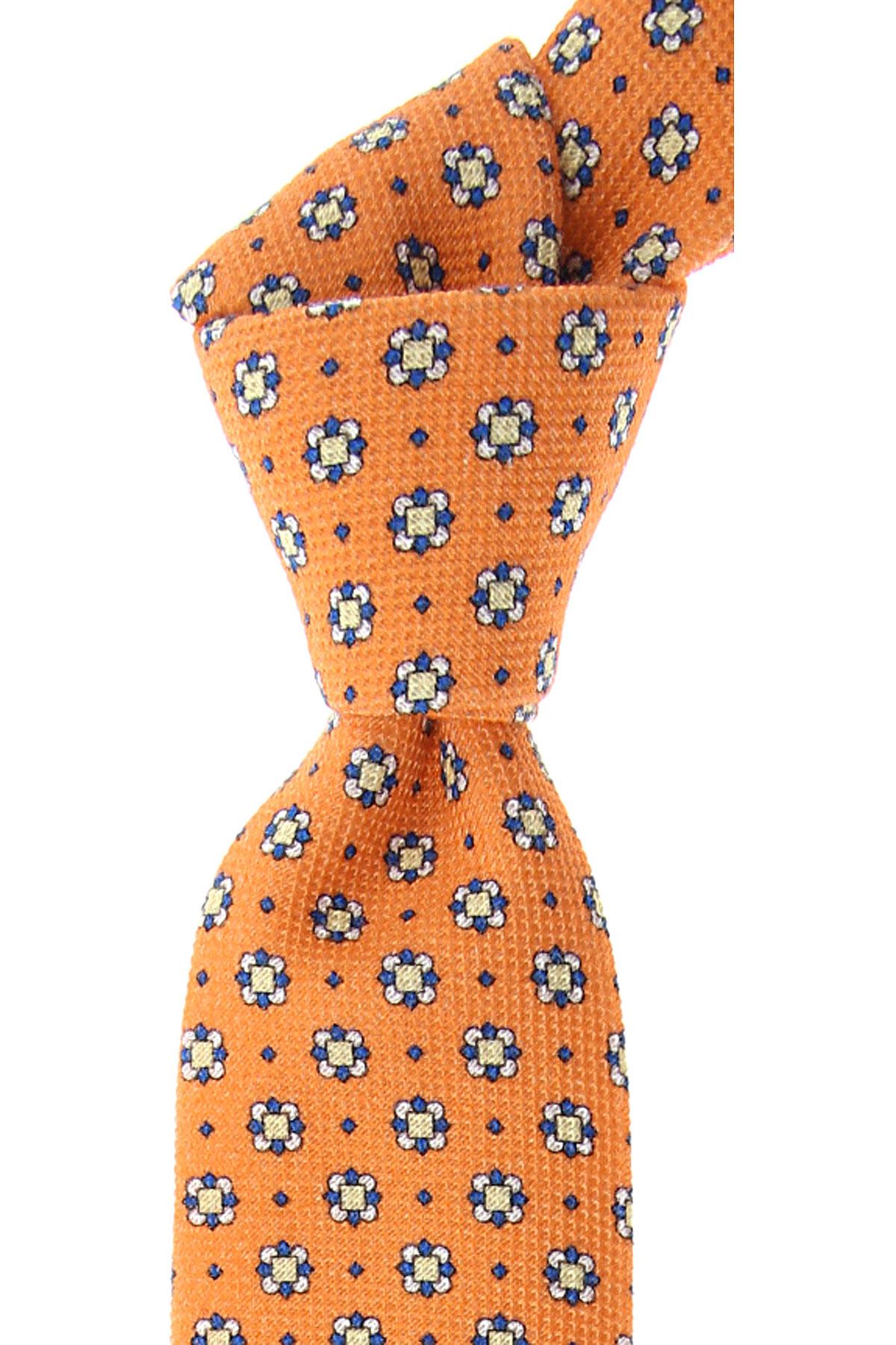 Fefe Napoli Ties On Sale, Orange, Cotton, 2019