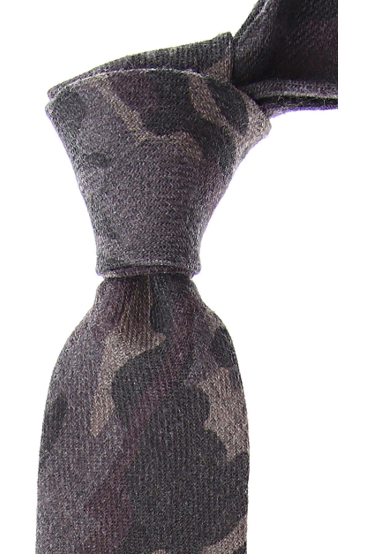 Fefe Napoli Ties On Sale, Grey, Wool, 2019